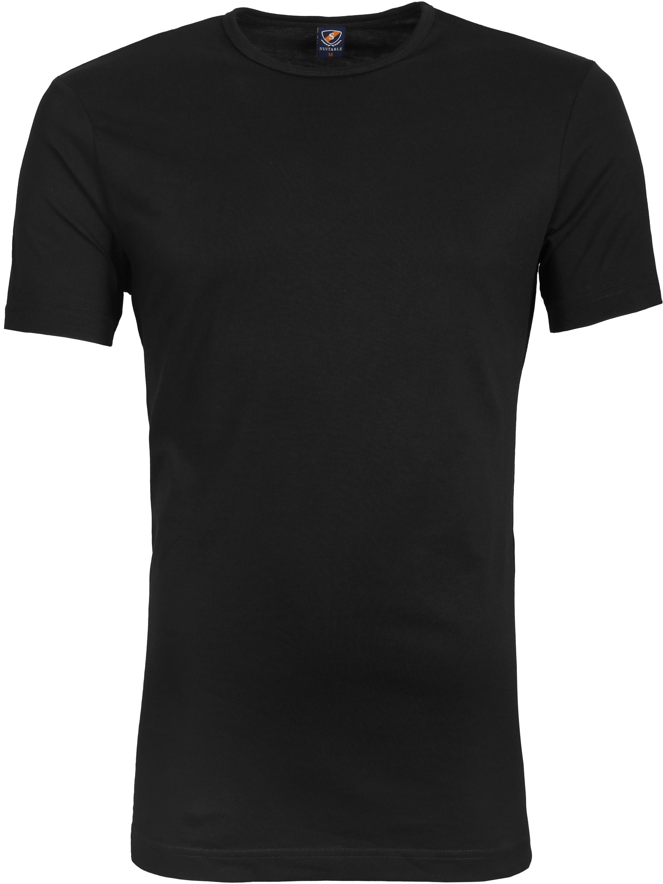 Suitable T-shirt 2-Pack O-Ausschnitt Schwarz foto 1