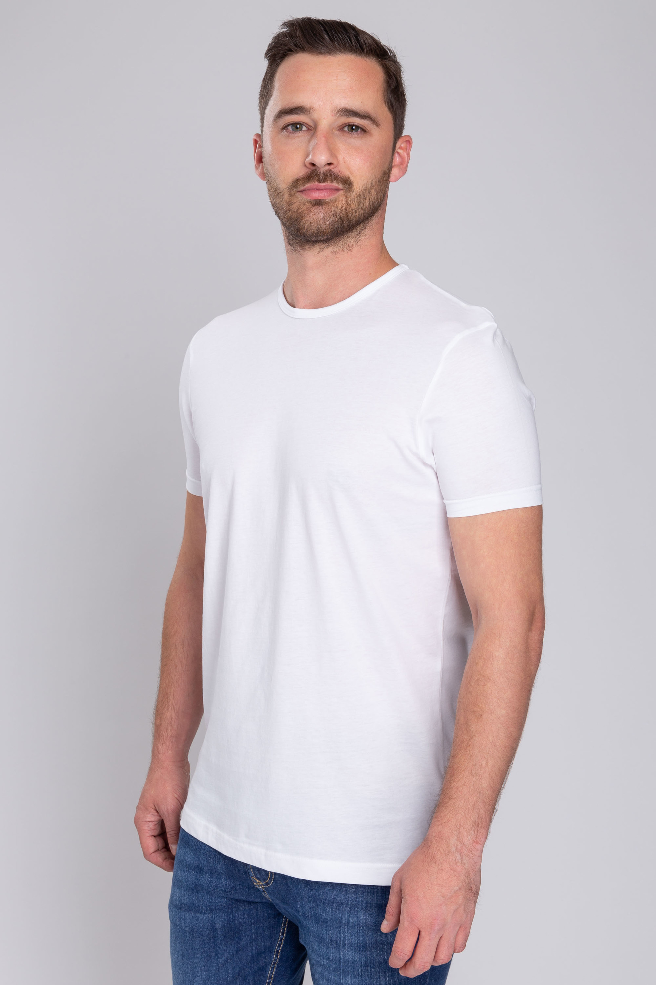 Suitable T-shirt 2-Pack O-Hals Weiß foto 6