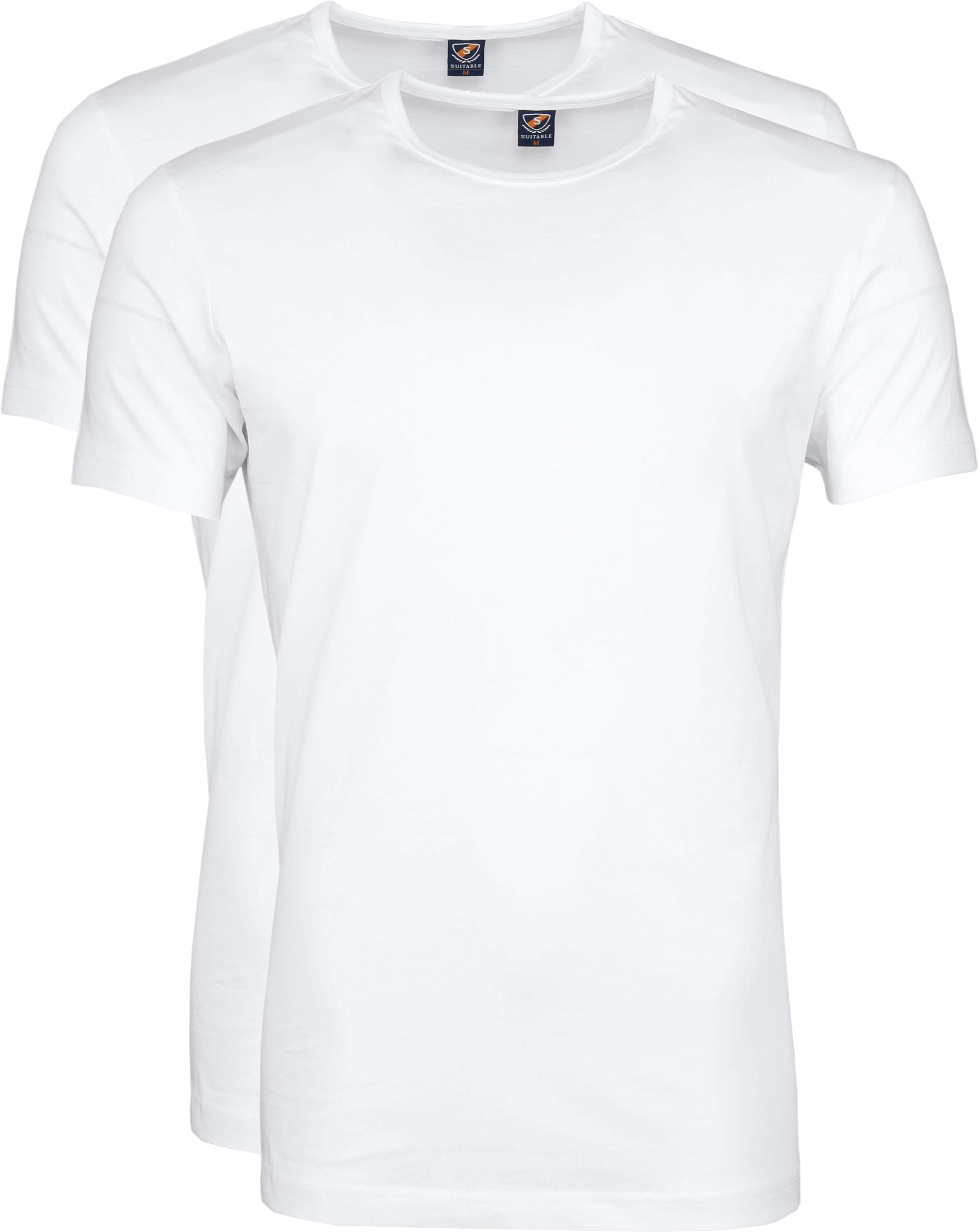 Suitable T-shirt 2-Pack O-Hals Weiß Foto 0
