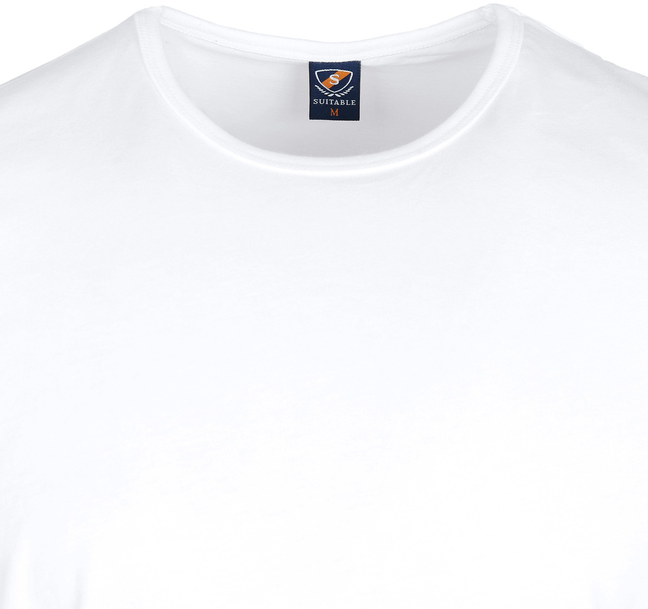 Suitable T-shirt 2-Pack O-Hals Weiß Foto 1