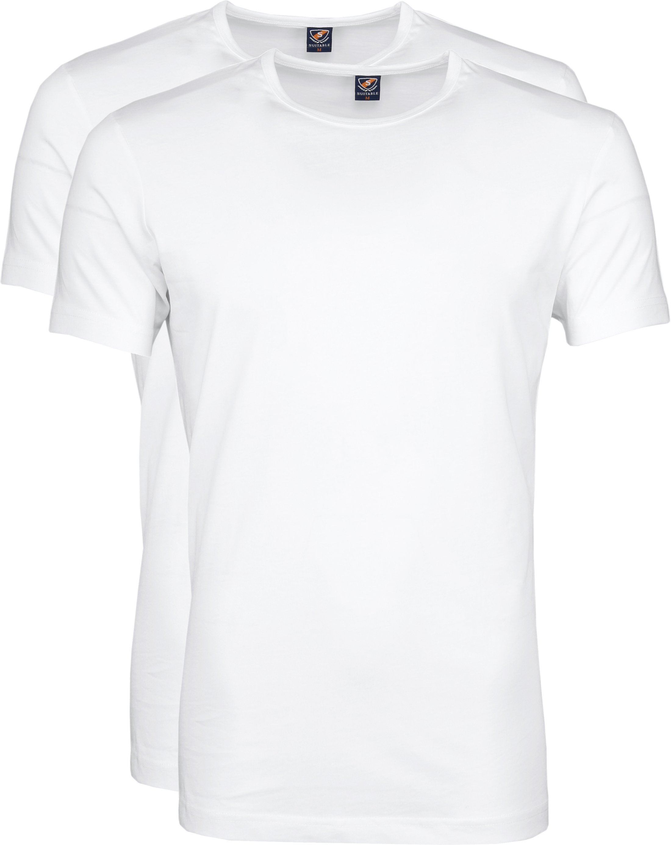 Suitable T-shirt 2-Pack O-Neck Wit foto 0