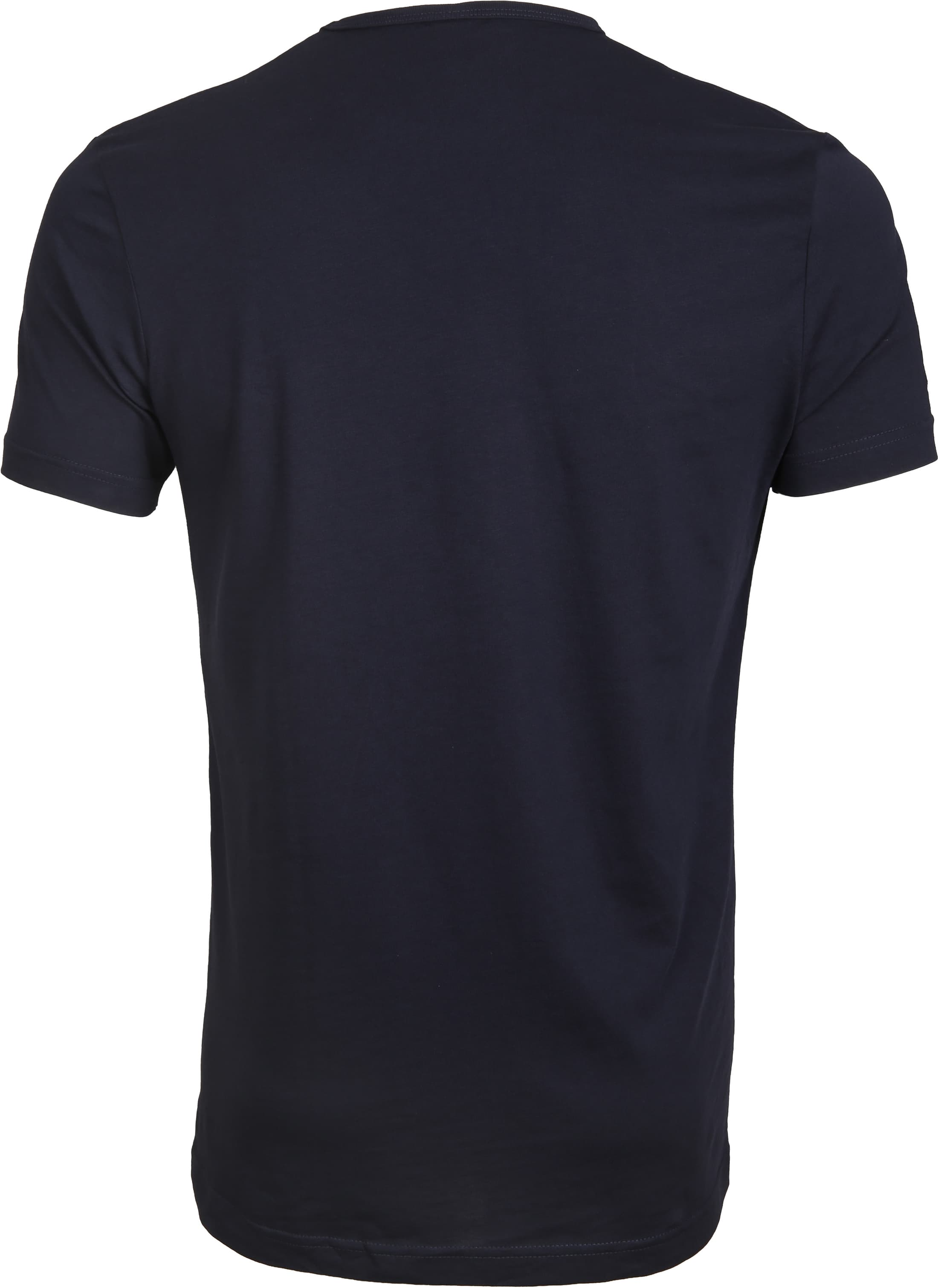 Suitable T-shirt 4-Pack O-Neck Wit Navy foto 2