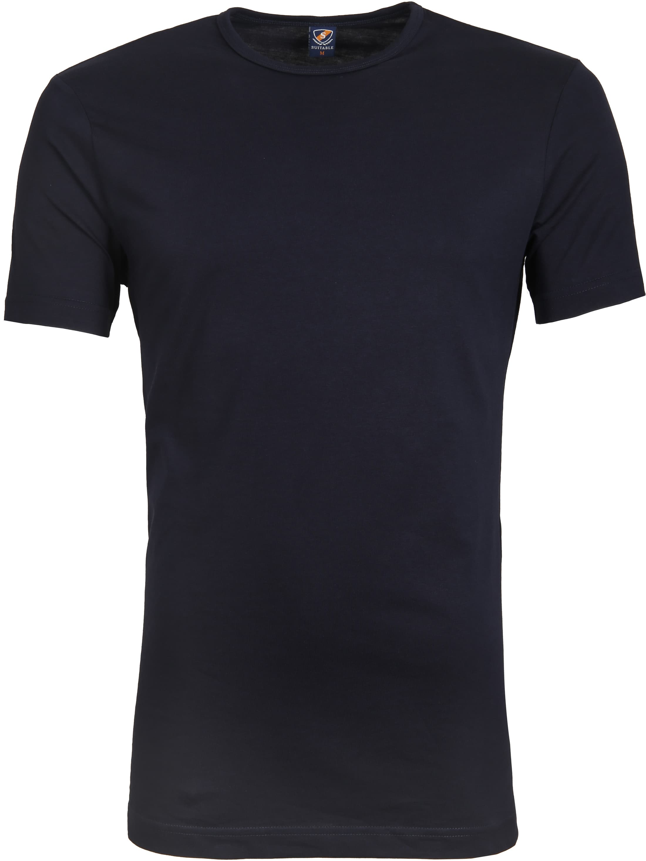 Suitable T-shirt 4-Pack O-Neck Zwart Navy foto 3
