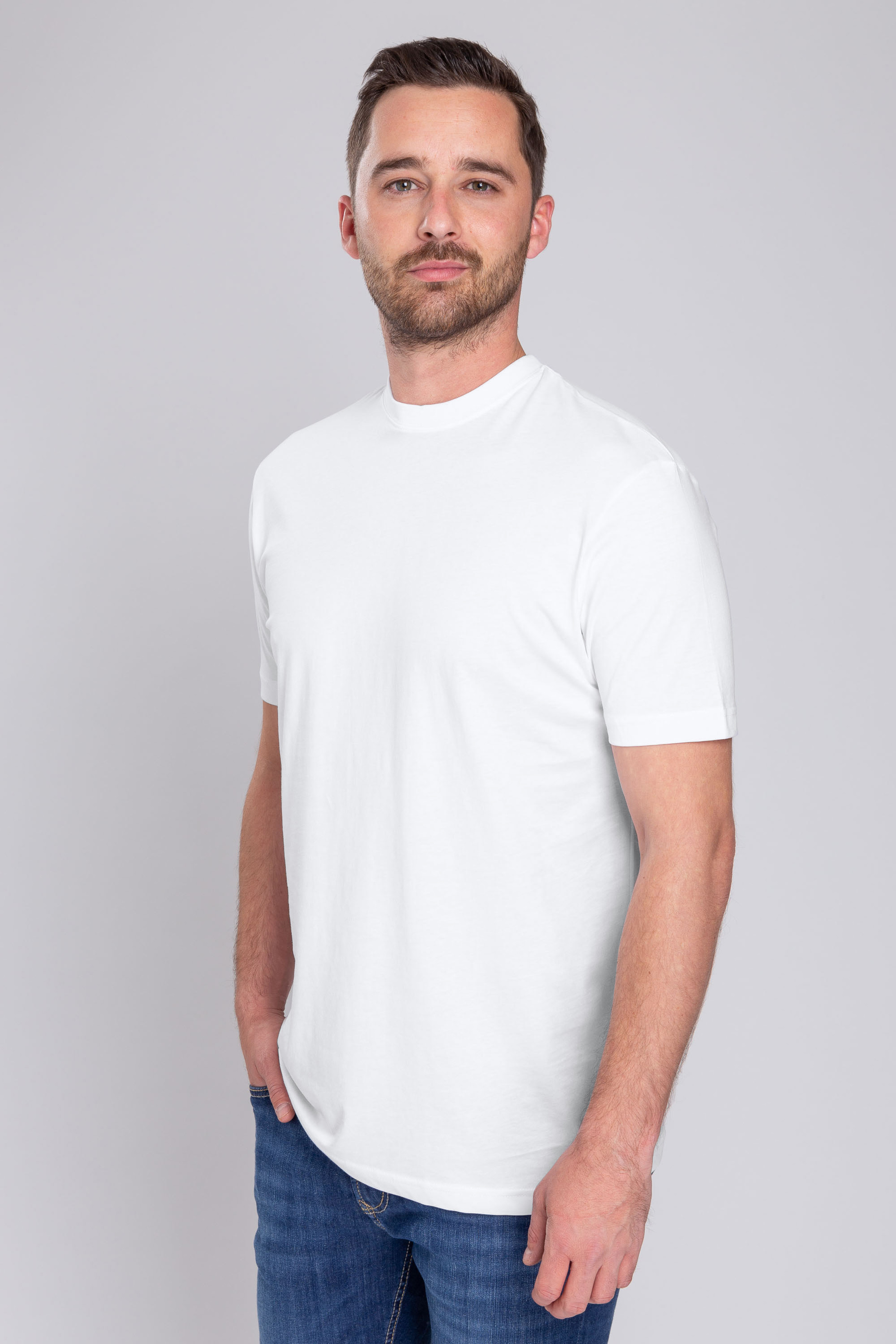 Suitable T-Shirt Obra 2-Pack White