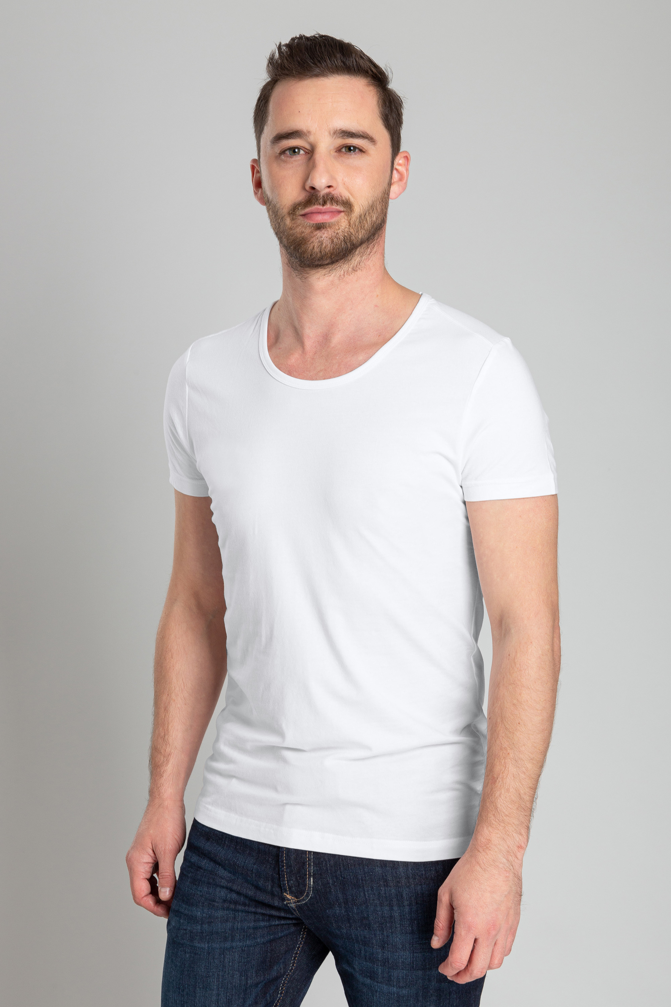 Suitable T-shirt Stretch 2-Pack O-Neck White