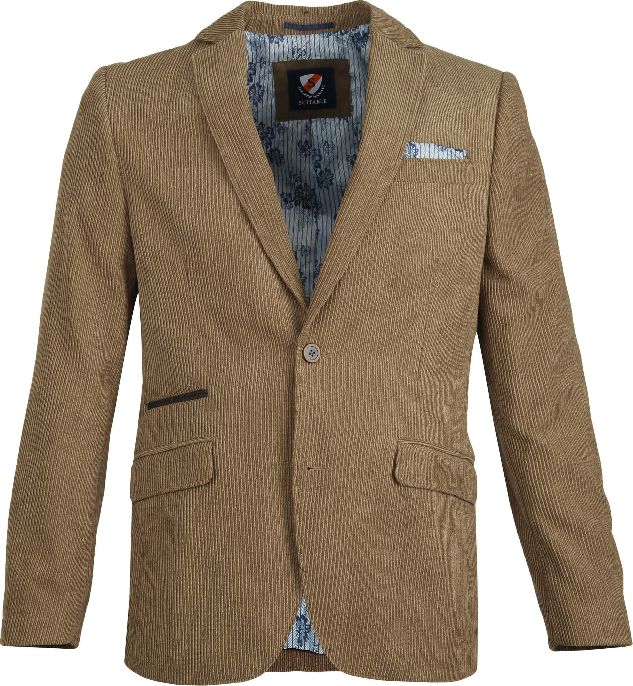 Suitable Tarm Blazer Corduroy Khaki Foto 0