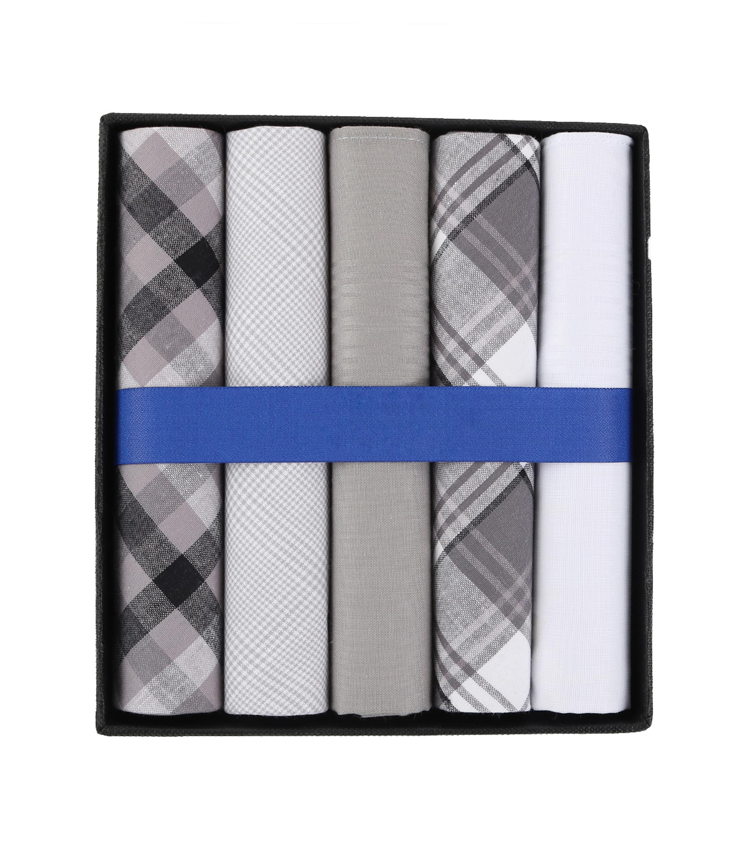 Suitable Taschentücher Weiß Grau Kariert foto 0