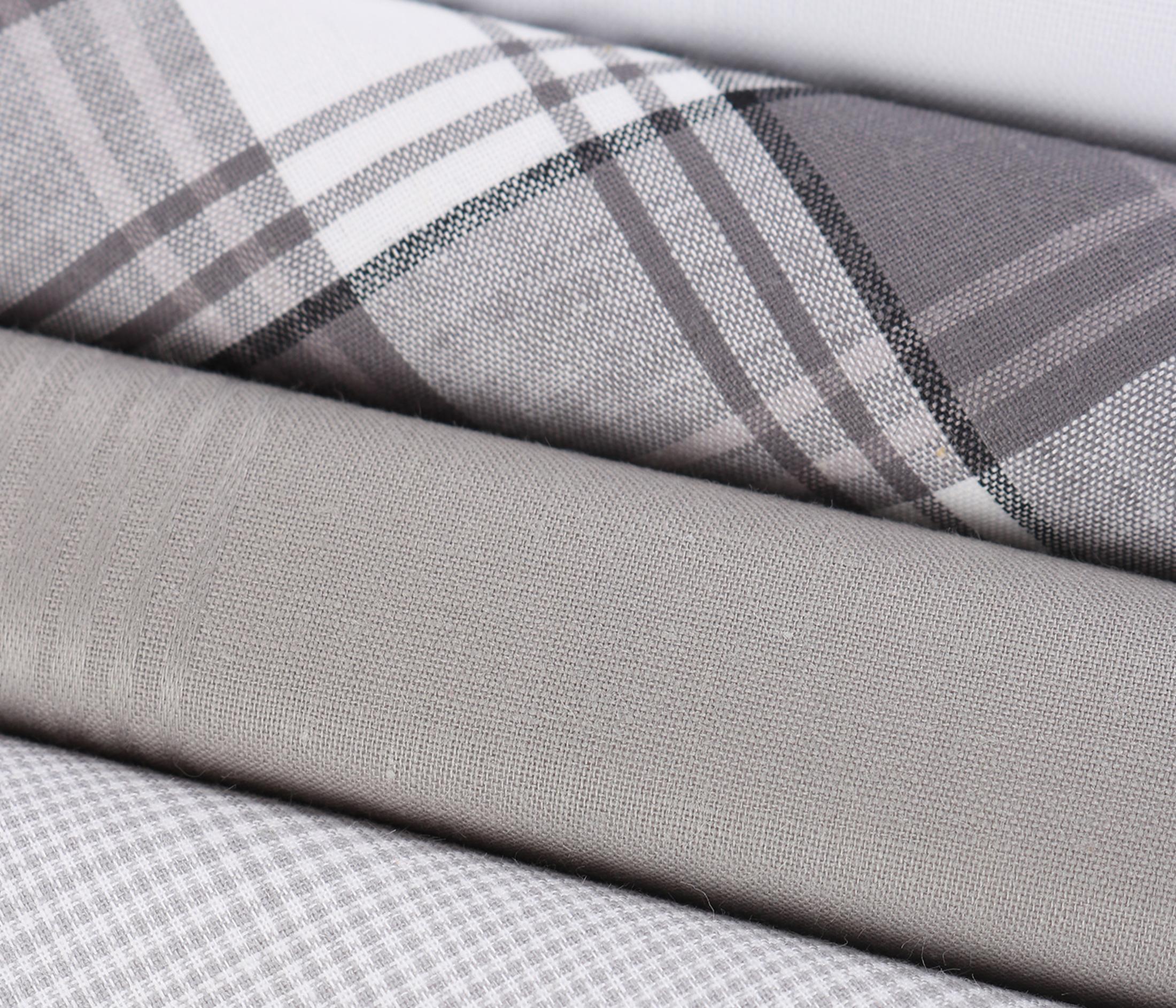 Suitable Taschentücher Weiß Grau Kariert foto 1