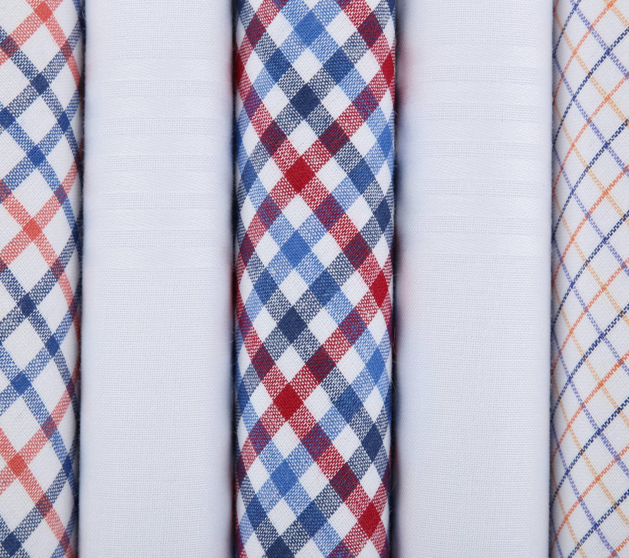 Suitable Taschentücher Weiß Rot Kariert foto 1