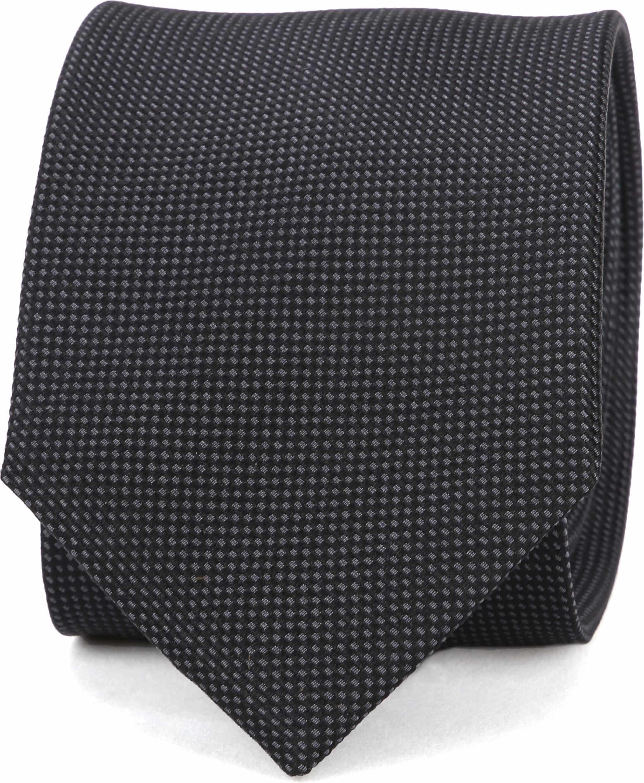 Suitable Tie Silk Black 10 foto 0