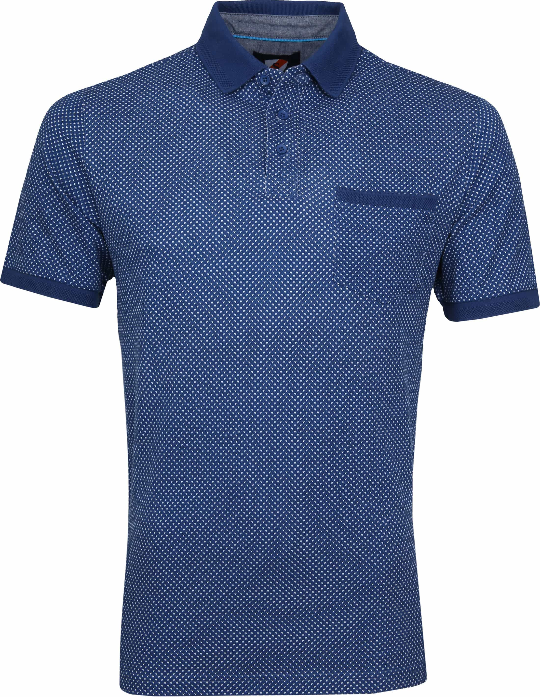 Suitable Till Poloshirt Dessin Blue foto 0