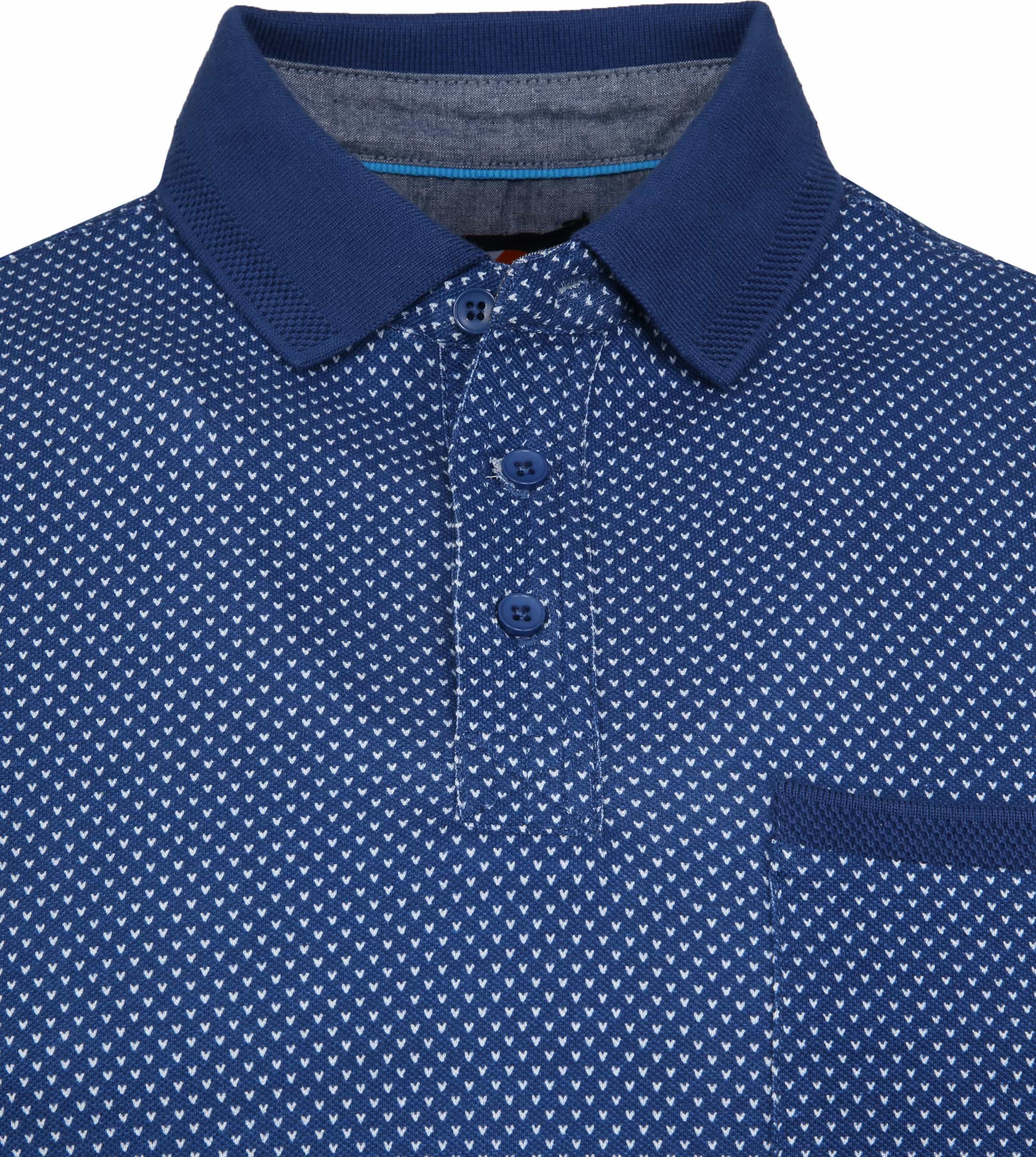 Suitable Till Poloshirt Dessin Blue foto 1