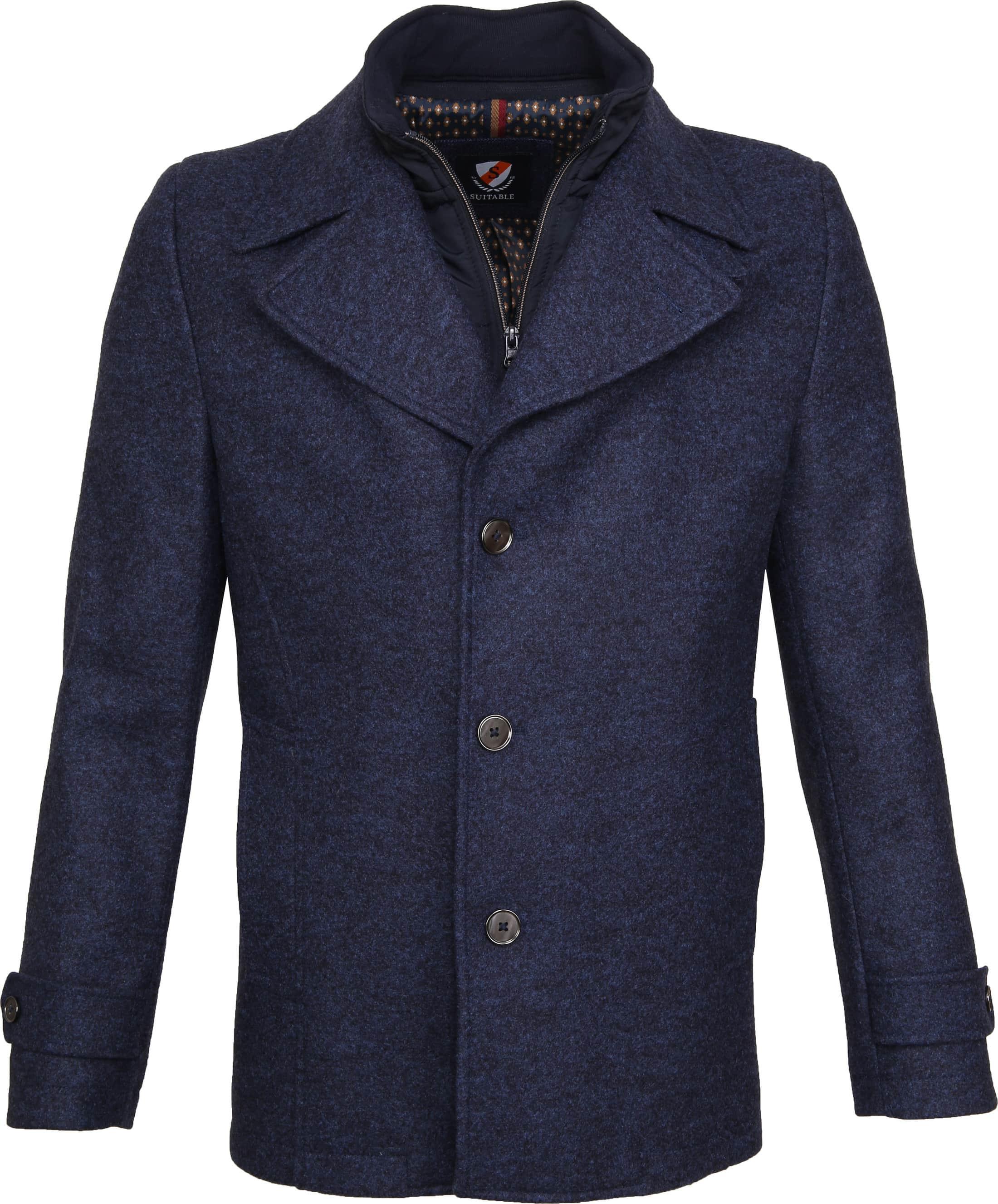 Suitable Turijn Coat Blauw foto 0