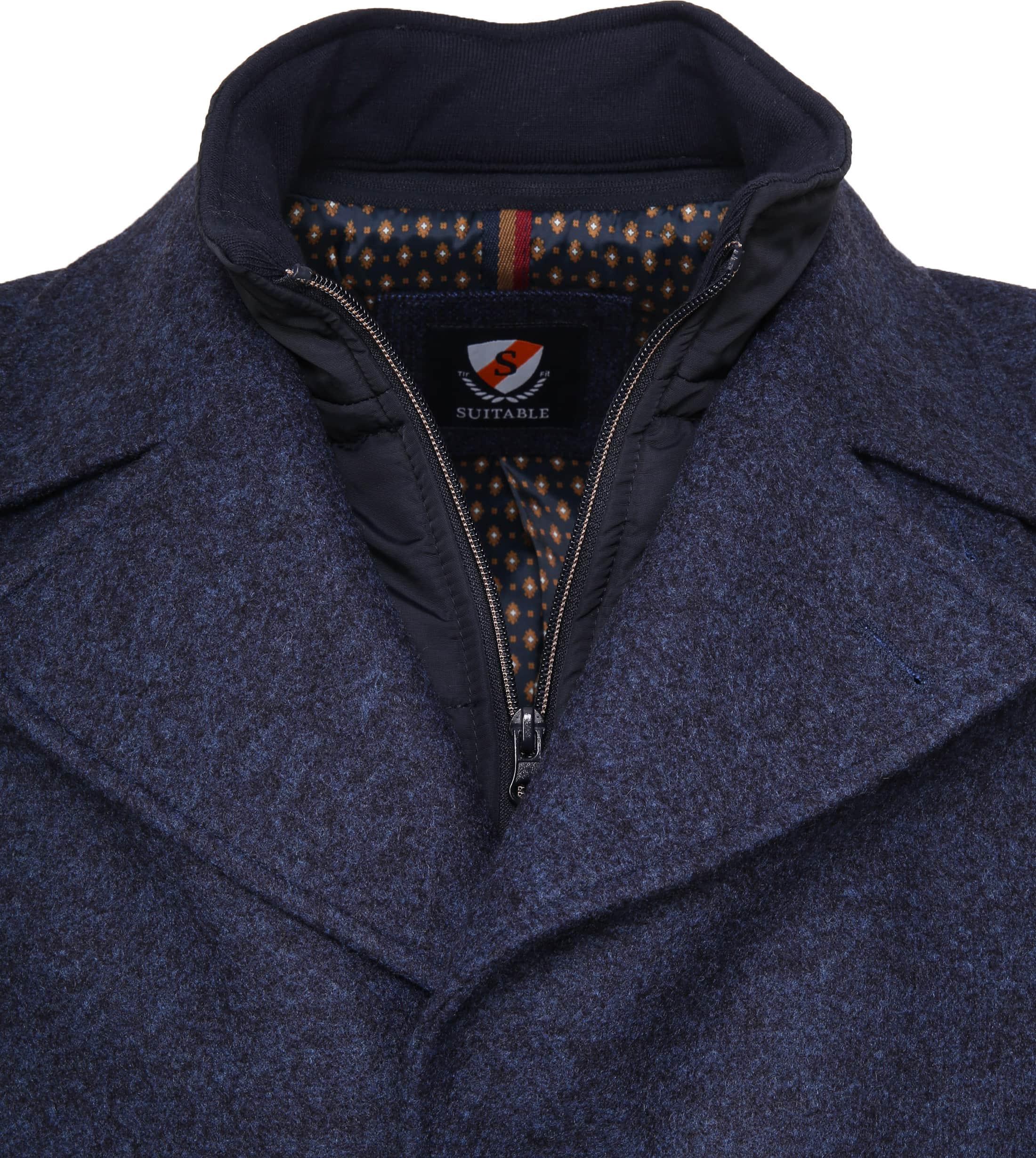 Suitable Turijn Coat Blauw foto 1