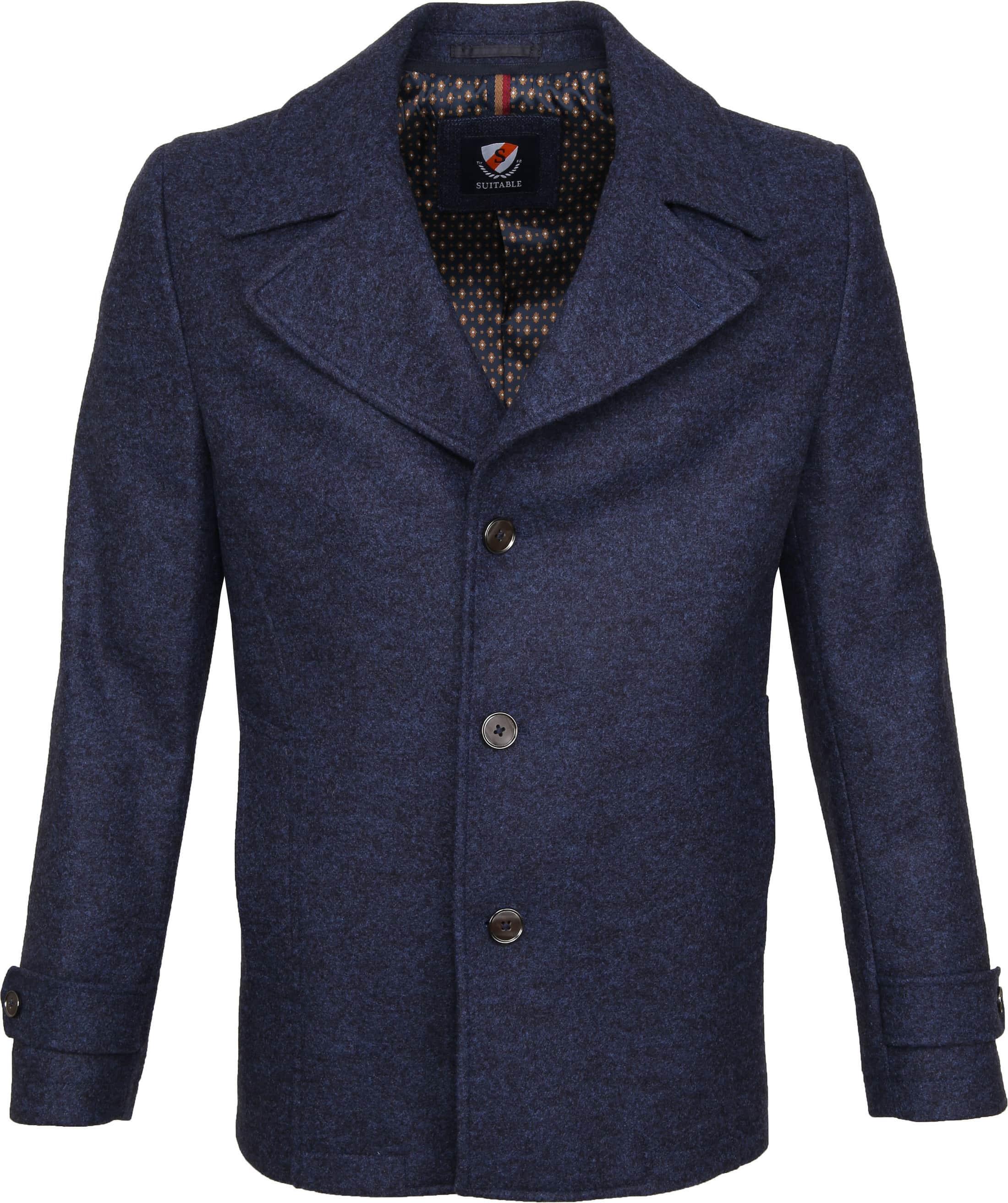 Suitable Turijn Coat Blauw foto 5