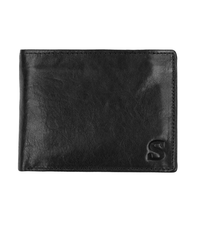 Suitable Wallet Black Leather - Skim Proof foto 0