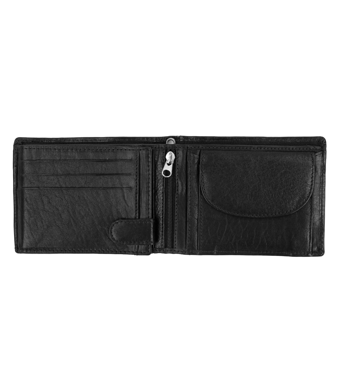 Suitable Wallet Black Leather - Skim Proof foto 1