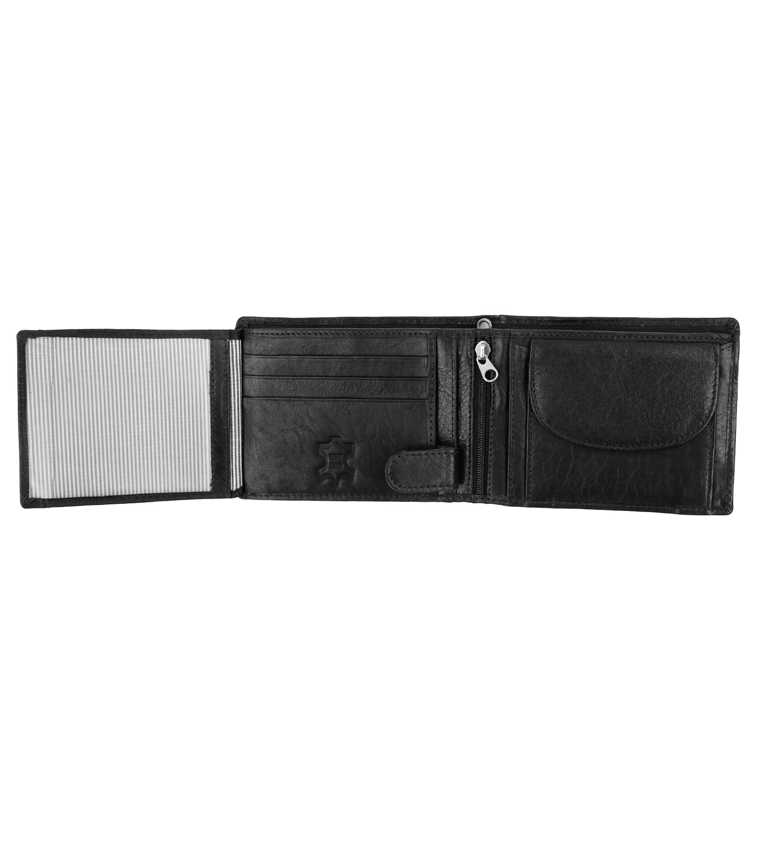 Suitable Wallet Black Leather - Skim Proof foto 2