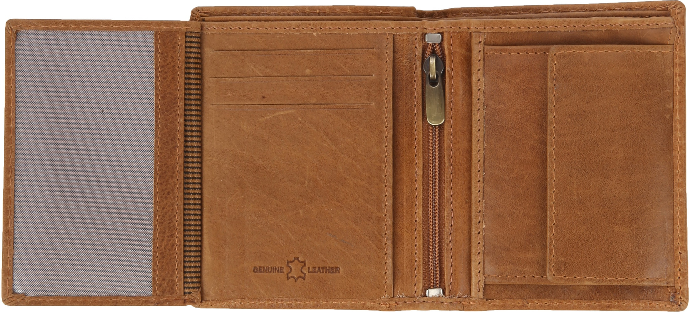 Suitable Wallet Nikkei Light Brown Leather - Skim Proof foto 2