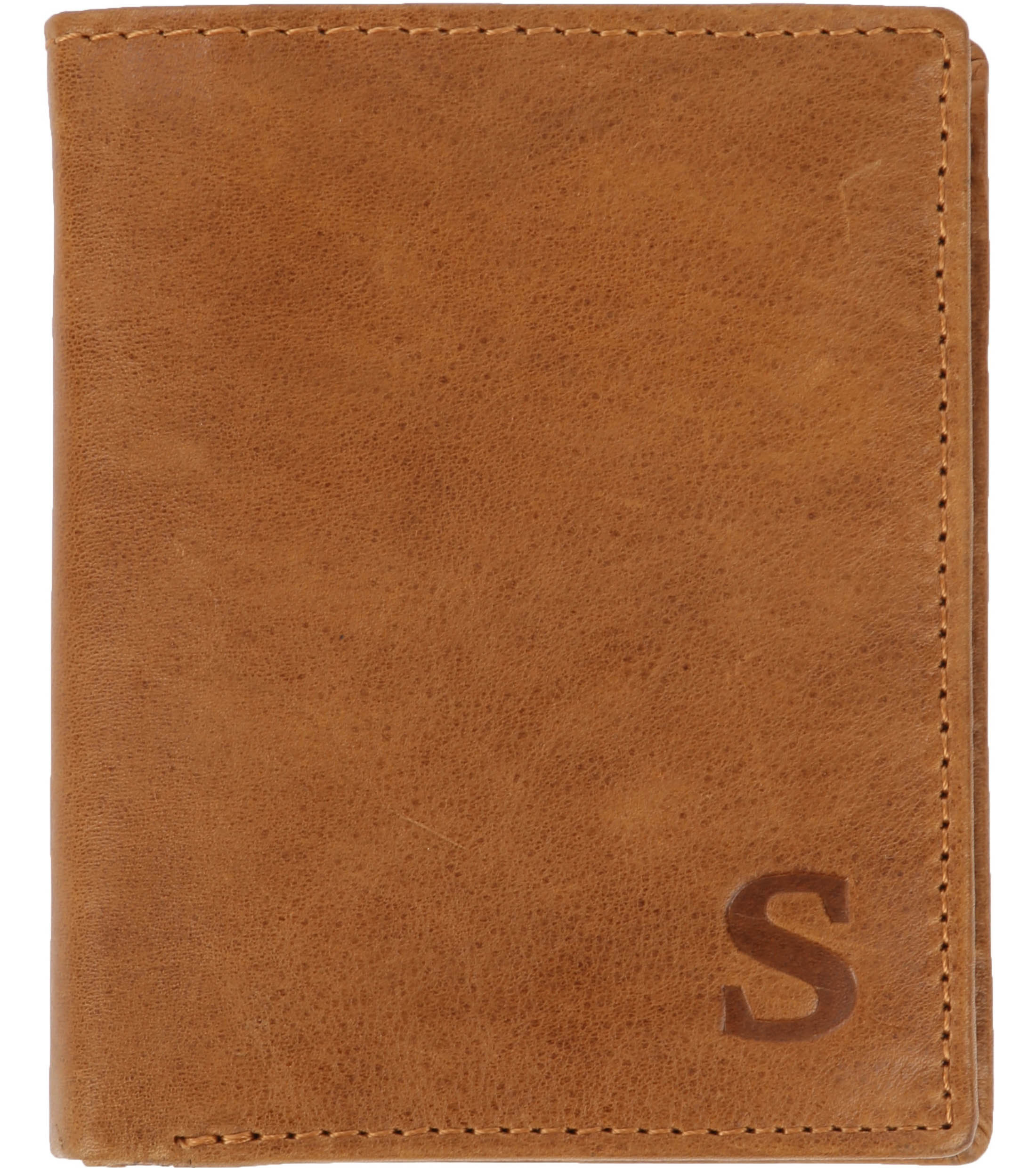 Suitable Wallet Nikkei Light Brown Leather - Skim Proof foto 0