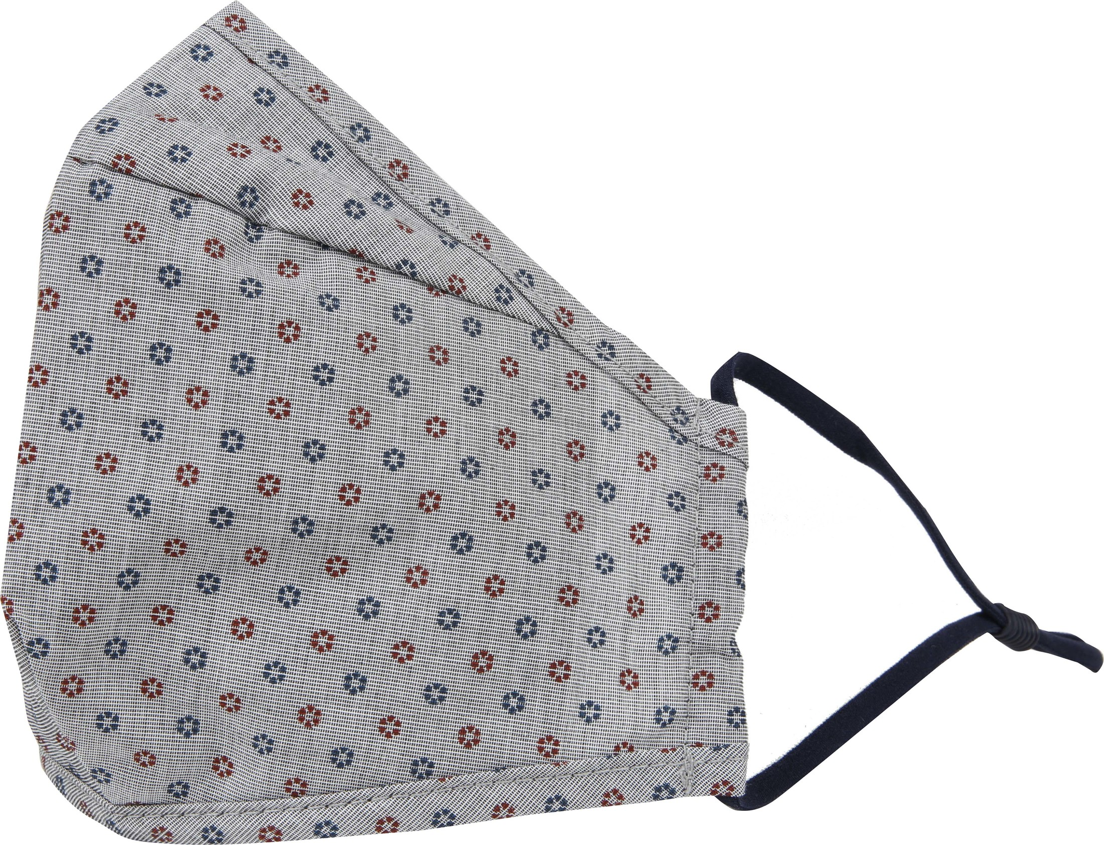 Suitable Washable Mouth Mask Print Mid Grey