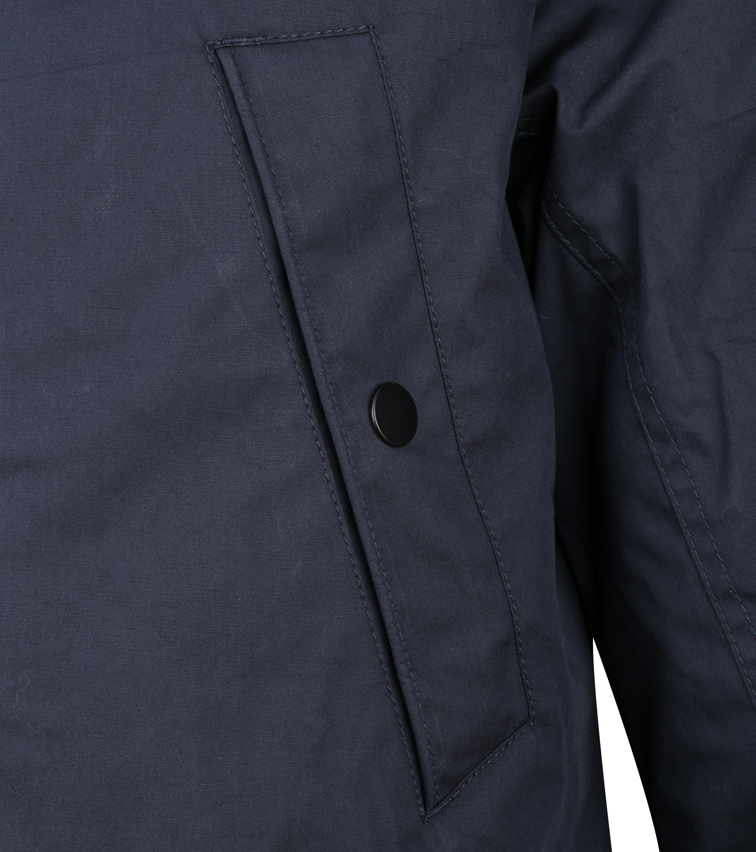 Suitable Winterjas Waxed-look Donkerblauw foto 3