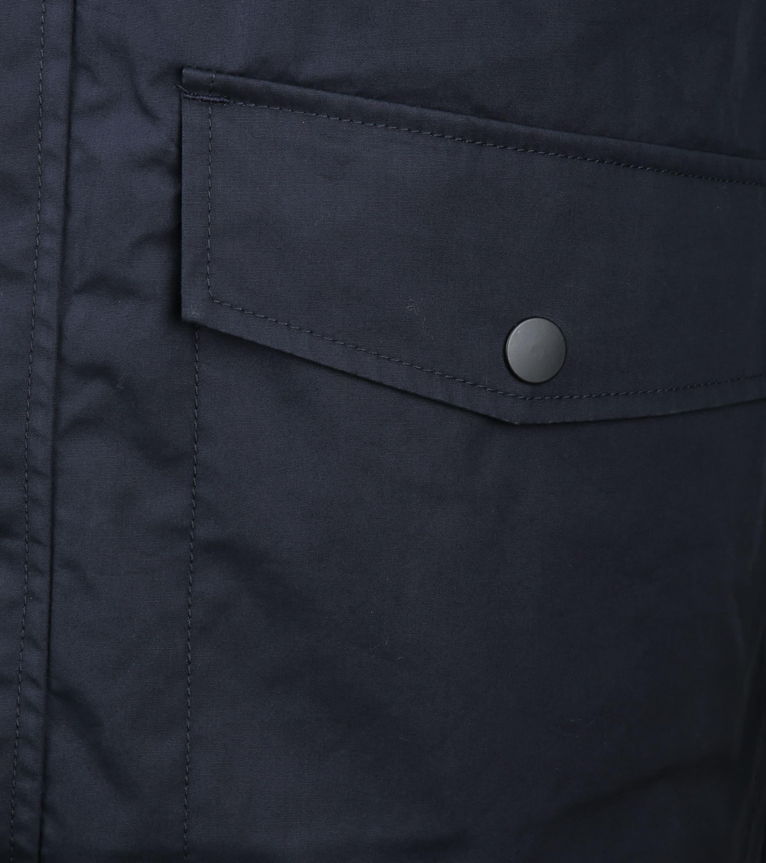 Suitable Winterjas Waxed-look Donkerblauw foto 4