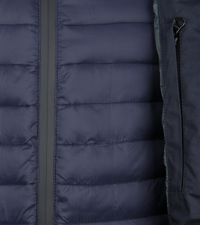 Suitable Winterjas Waxed-look Donkerblauw foto 5