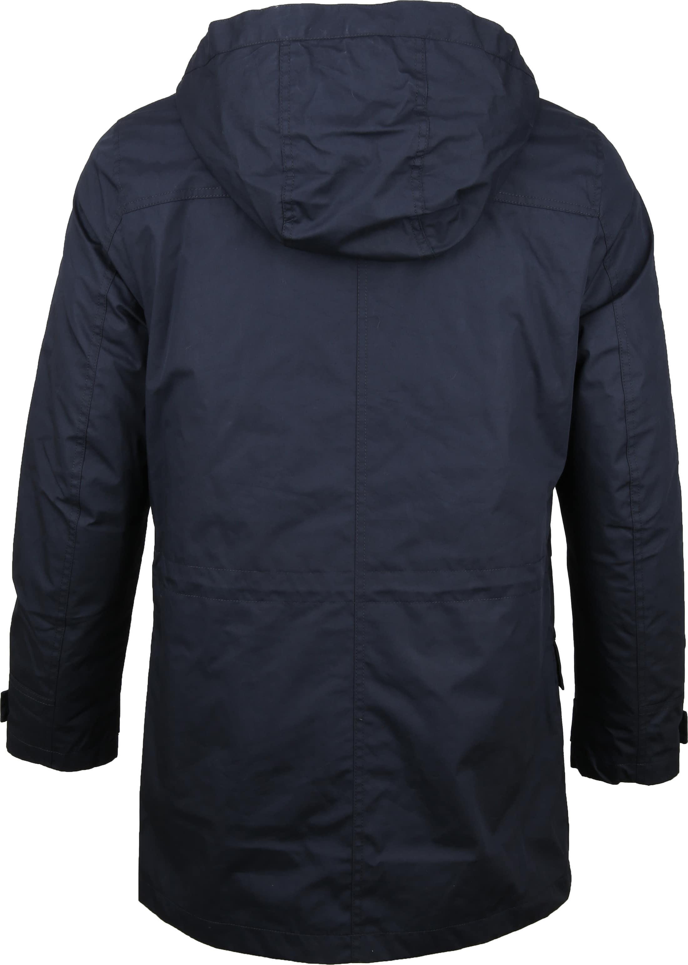 Suitable Winterjas Waxed-look Donkerblauw foto 6