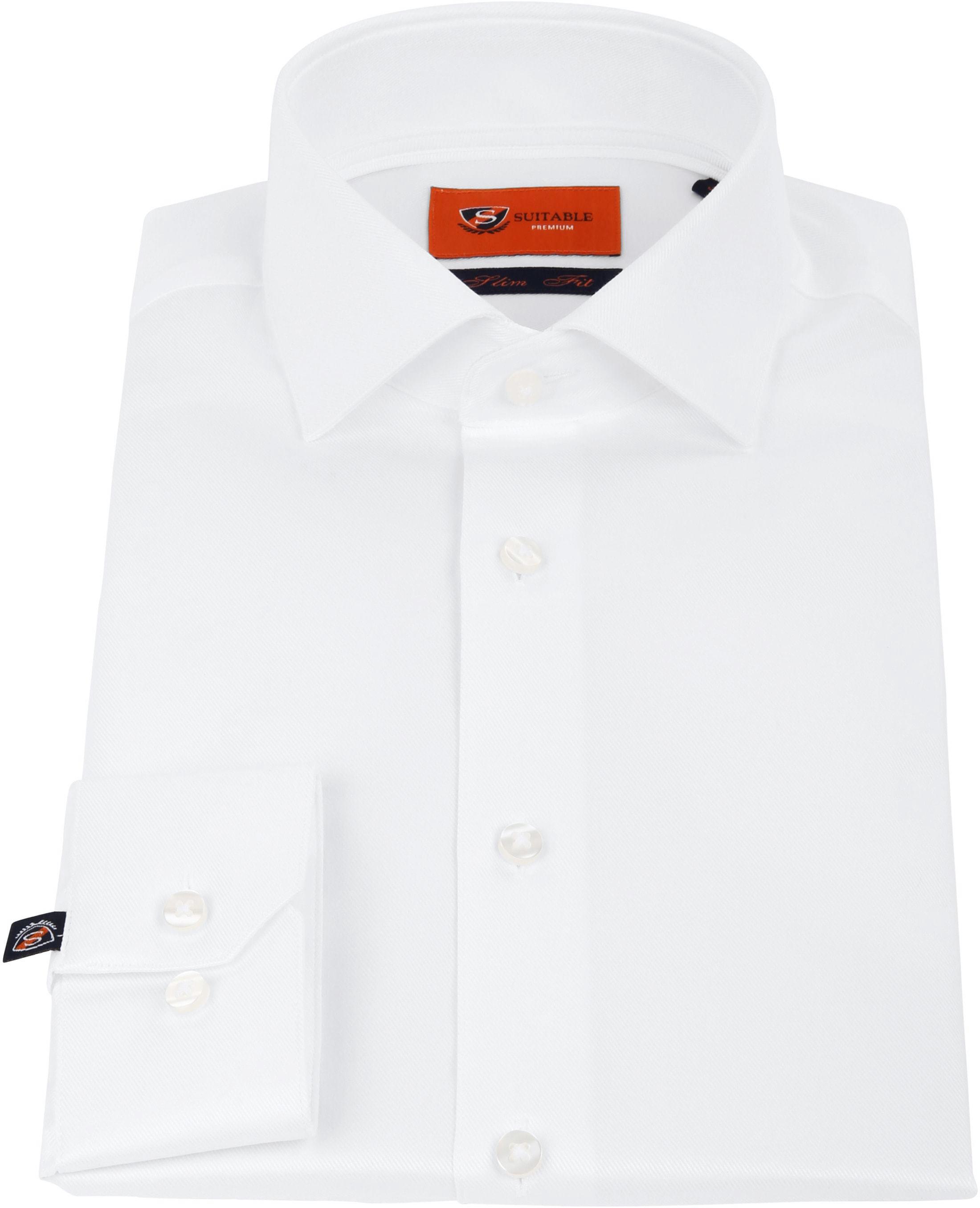Suitable Wit Overhemd Slim Fit DR-01