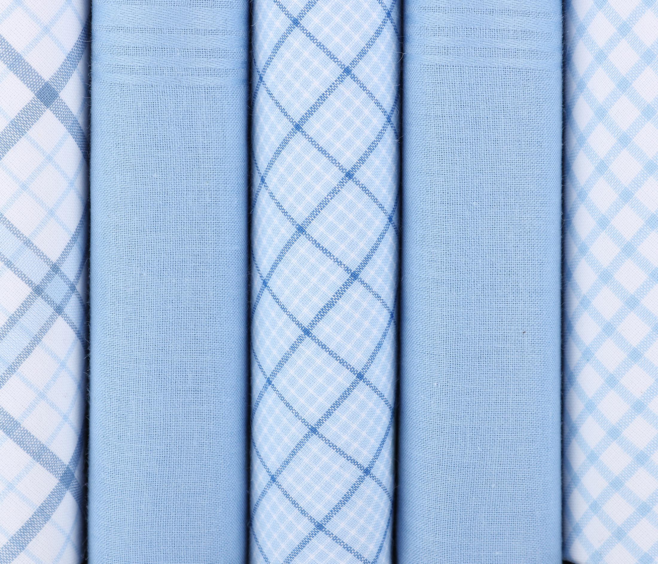 Suitable Zakdoeken Blauwe Ruit foto 1
