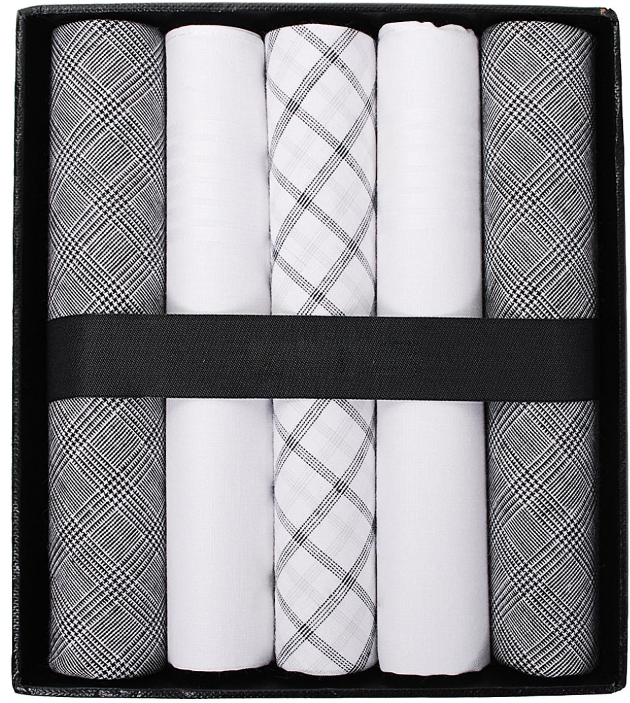 Suitable Zakdoeken Wit Zwart Mini Ruit