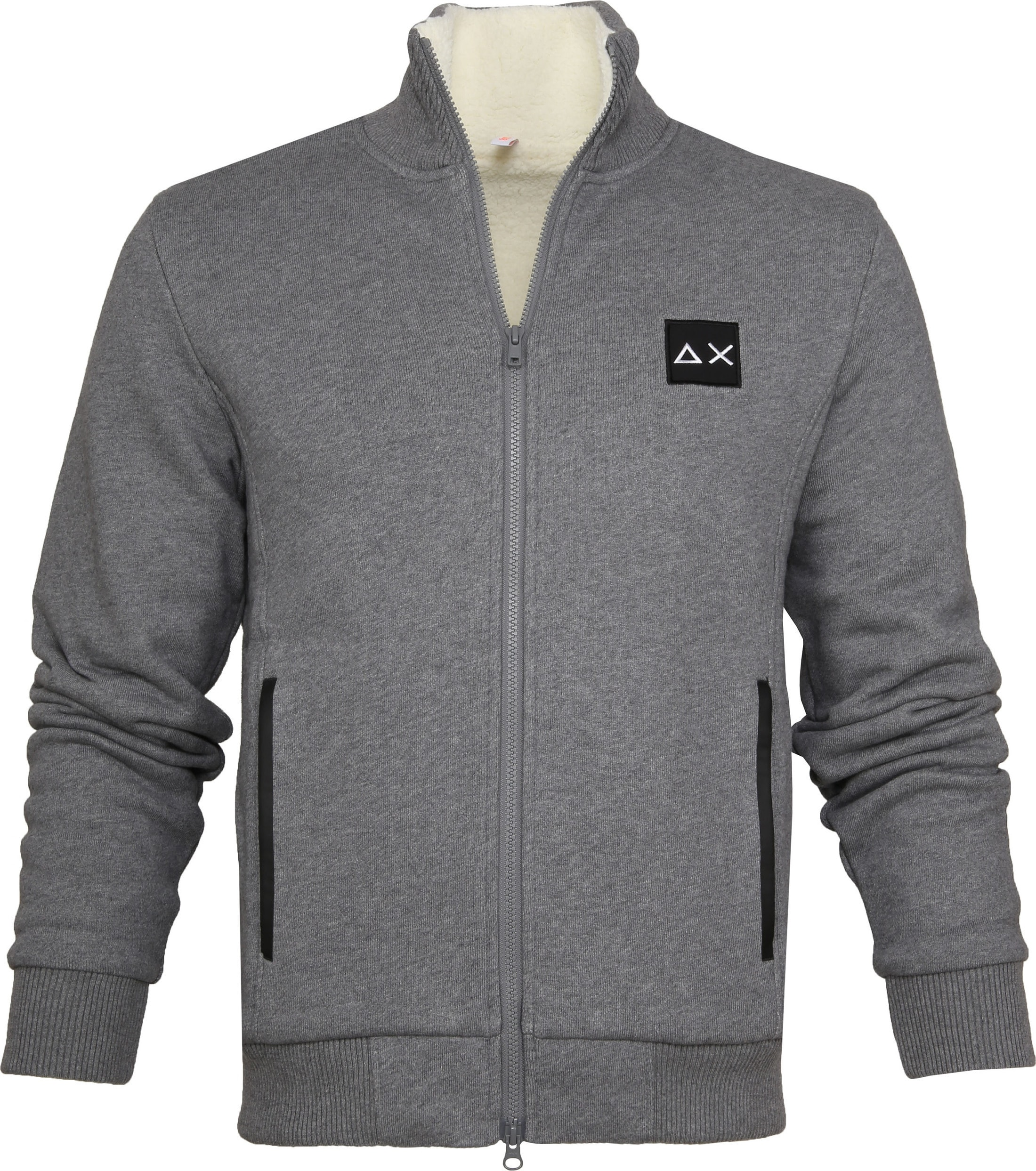 Sun68 Cardigan Quilted Grey foto 0