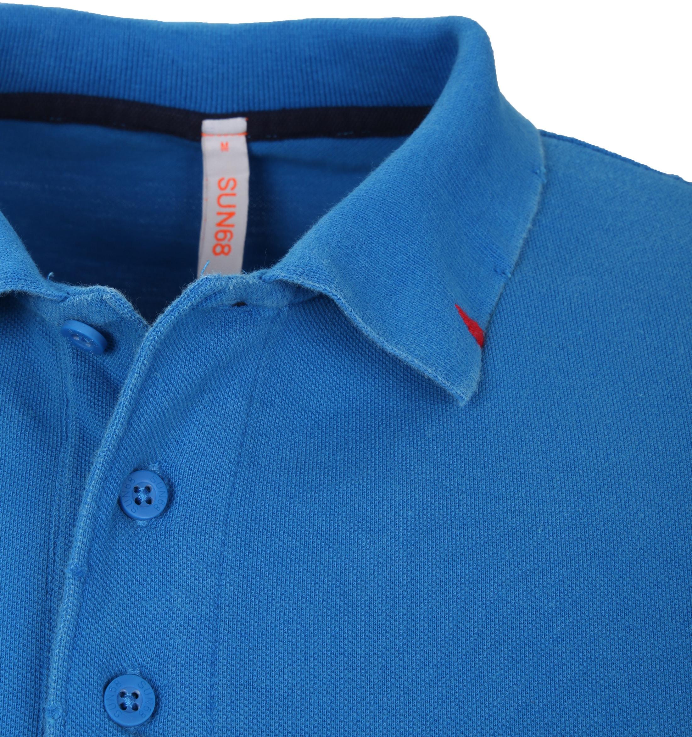 Sun68 Polo Longsleeve Vintage Blauw foto 1