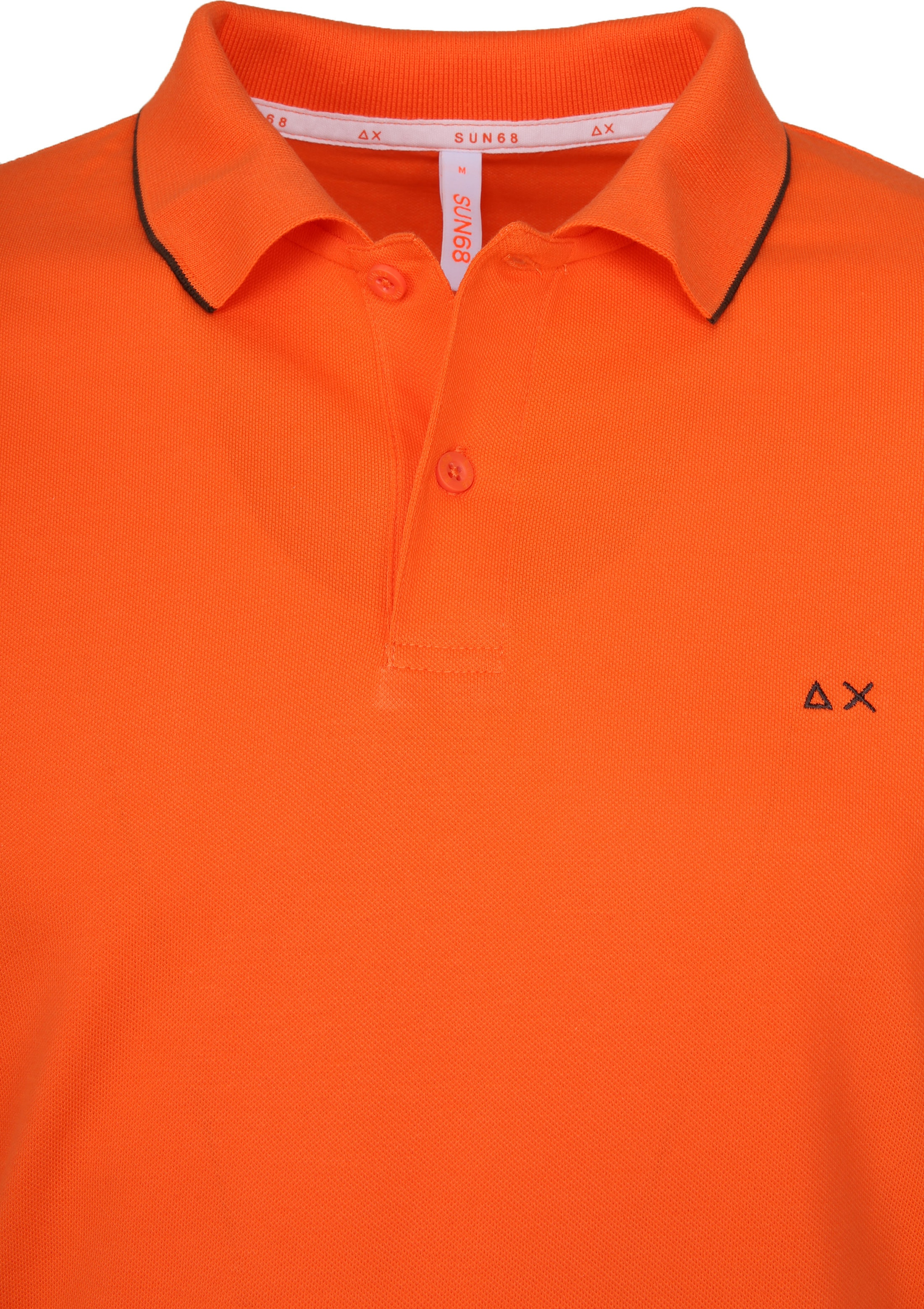 Sun68 Polo Small Stripe Orange SF foto 1