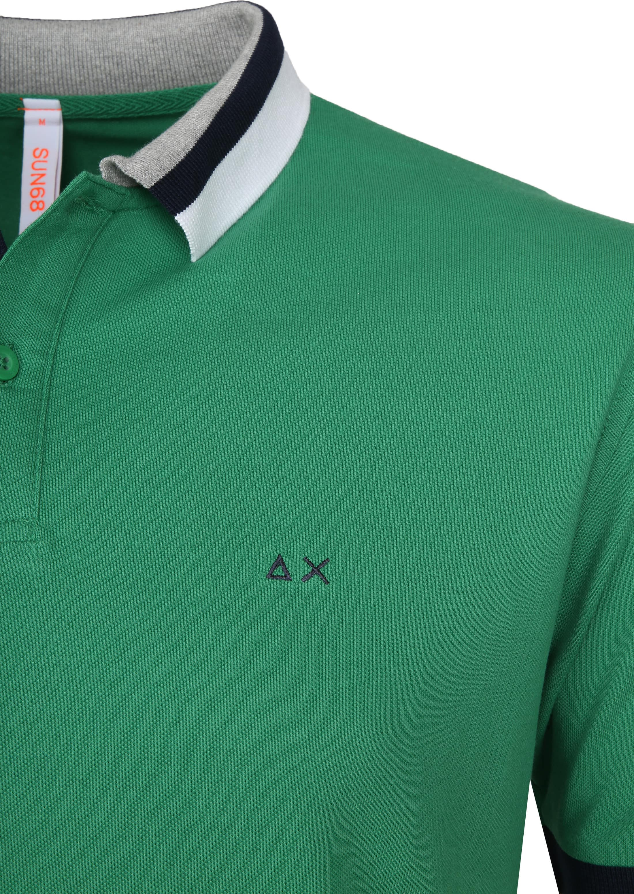 Sun68 Polo Three Collar Green foto 1