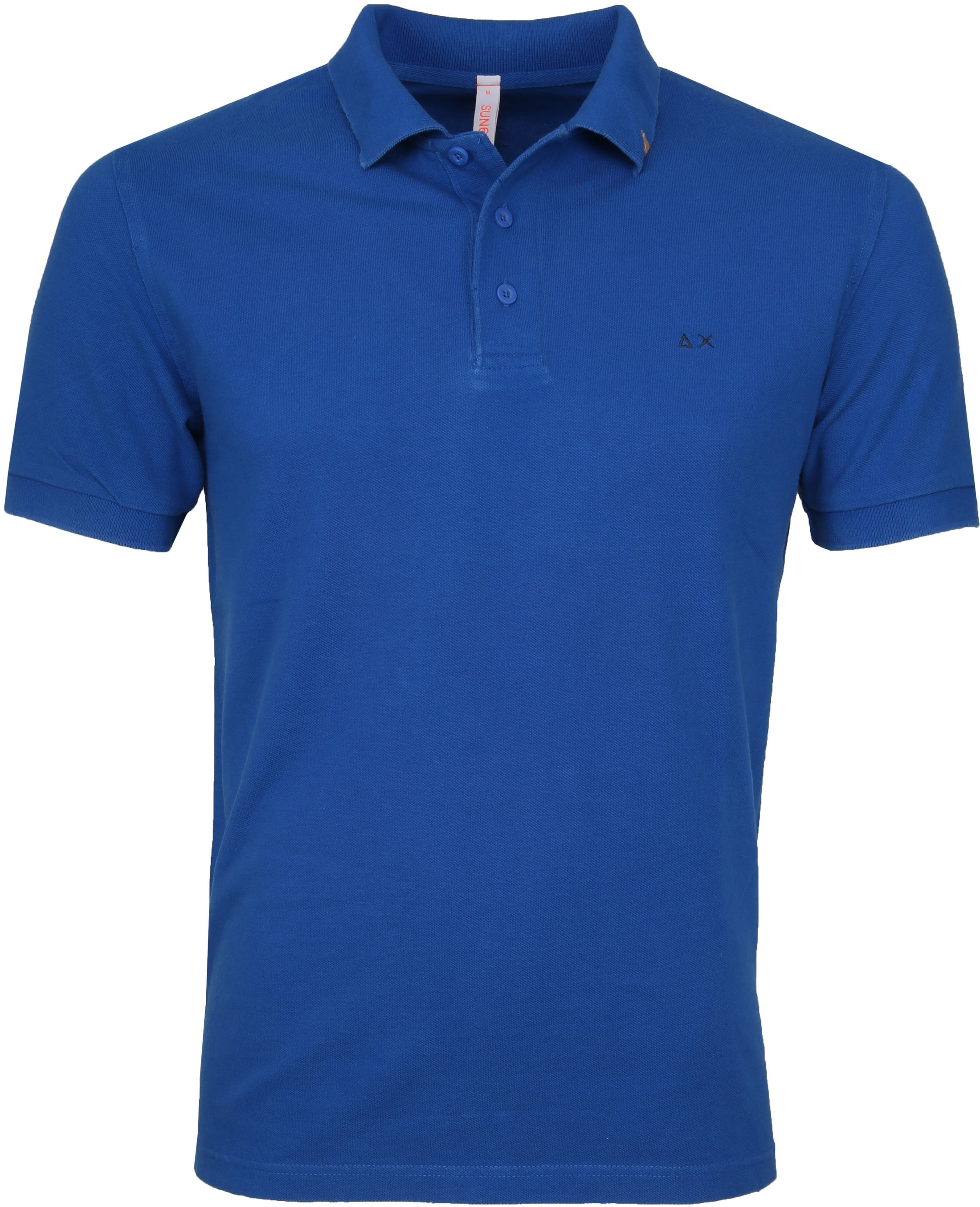 Sun68 Polo Vintage Solid Royal Blue foto 0