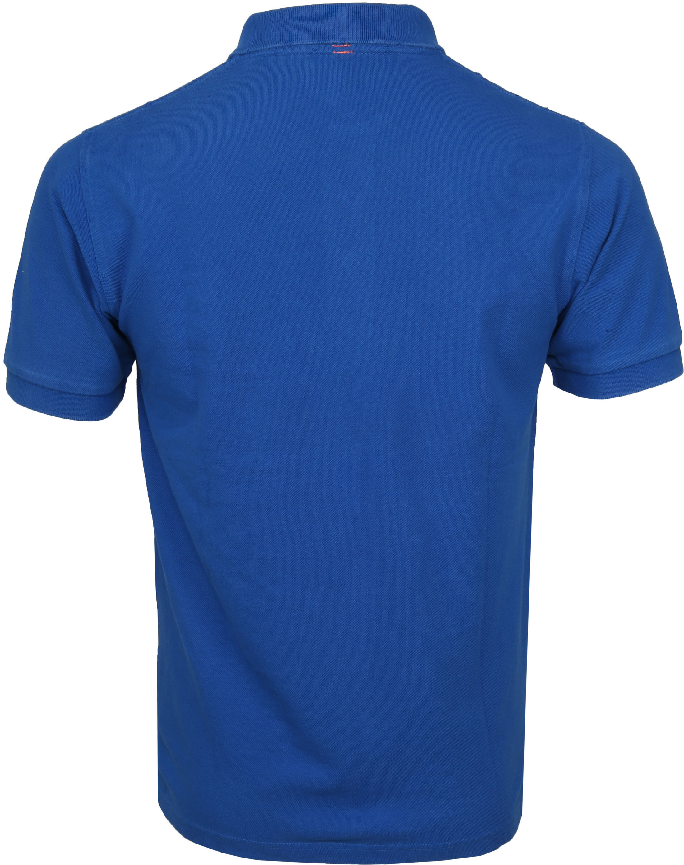 Sun68 Polo Vintage Solid Royal Blue foto 3