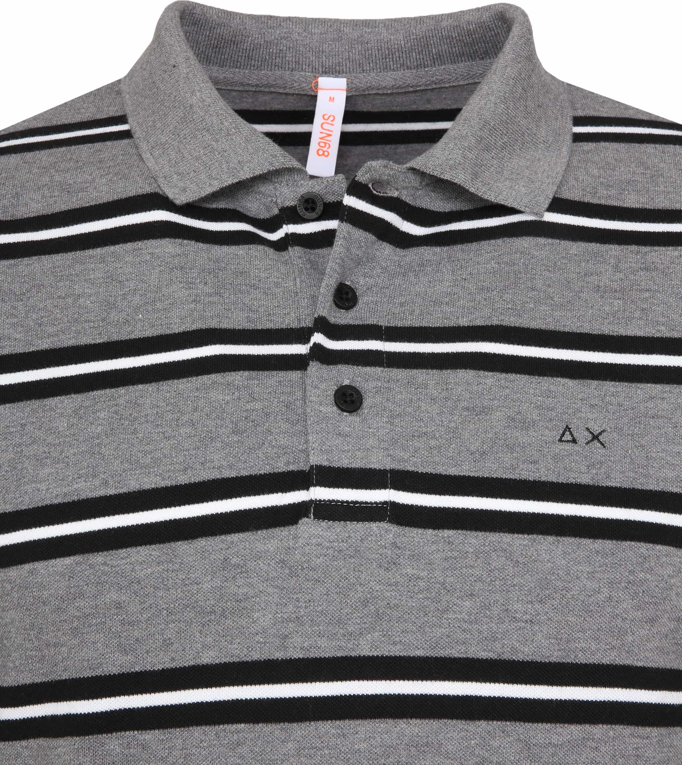 Sun68 Poloshirt LS Stripes Grey foto 1