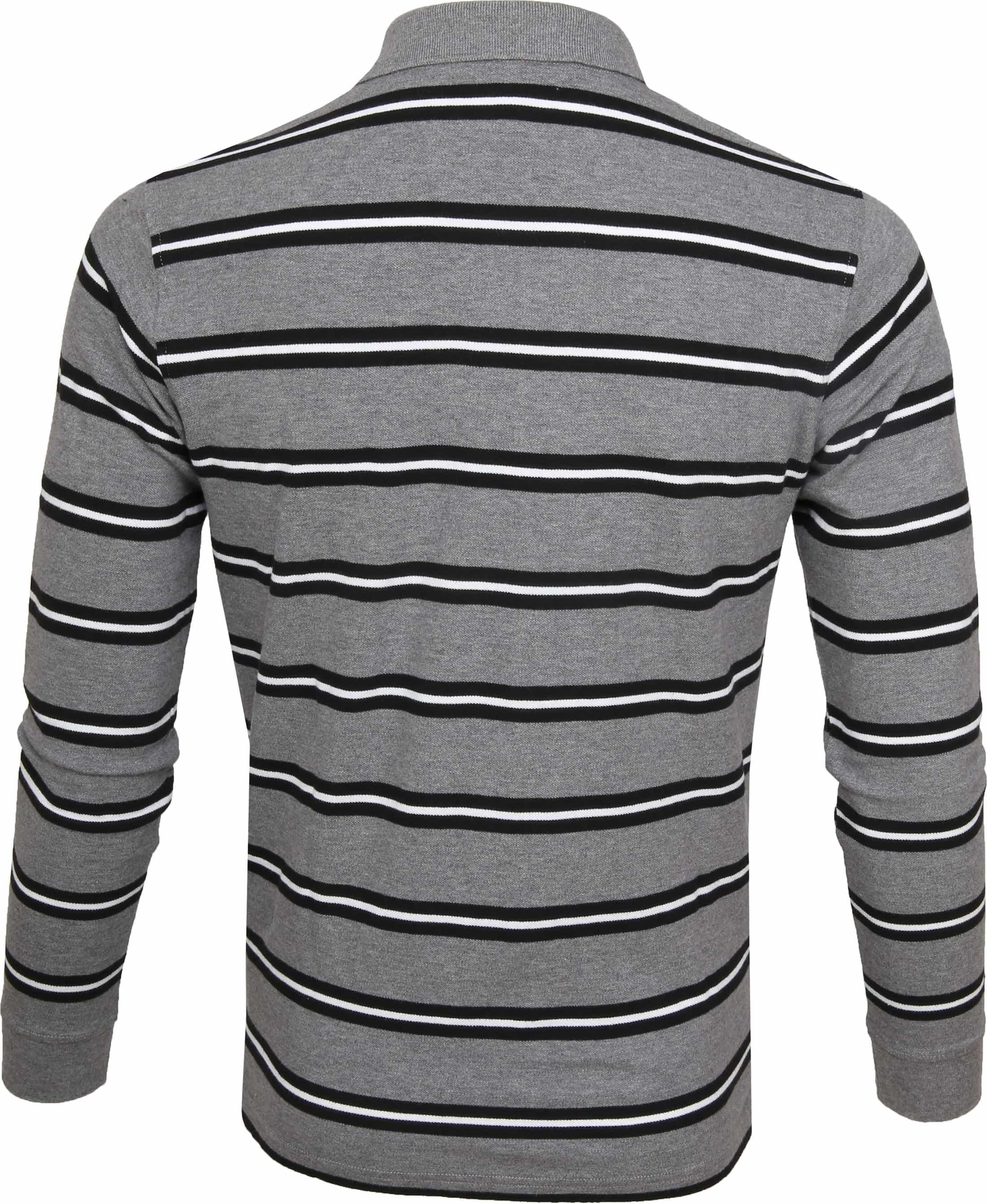 Sun68 Poloshirt LS Stripes Grey foto 3