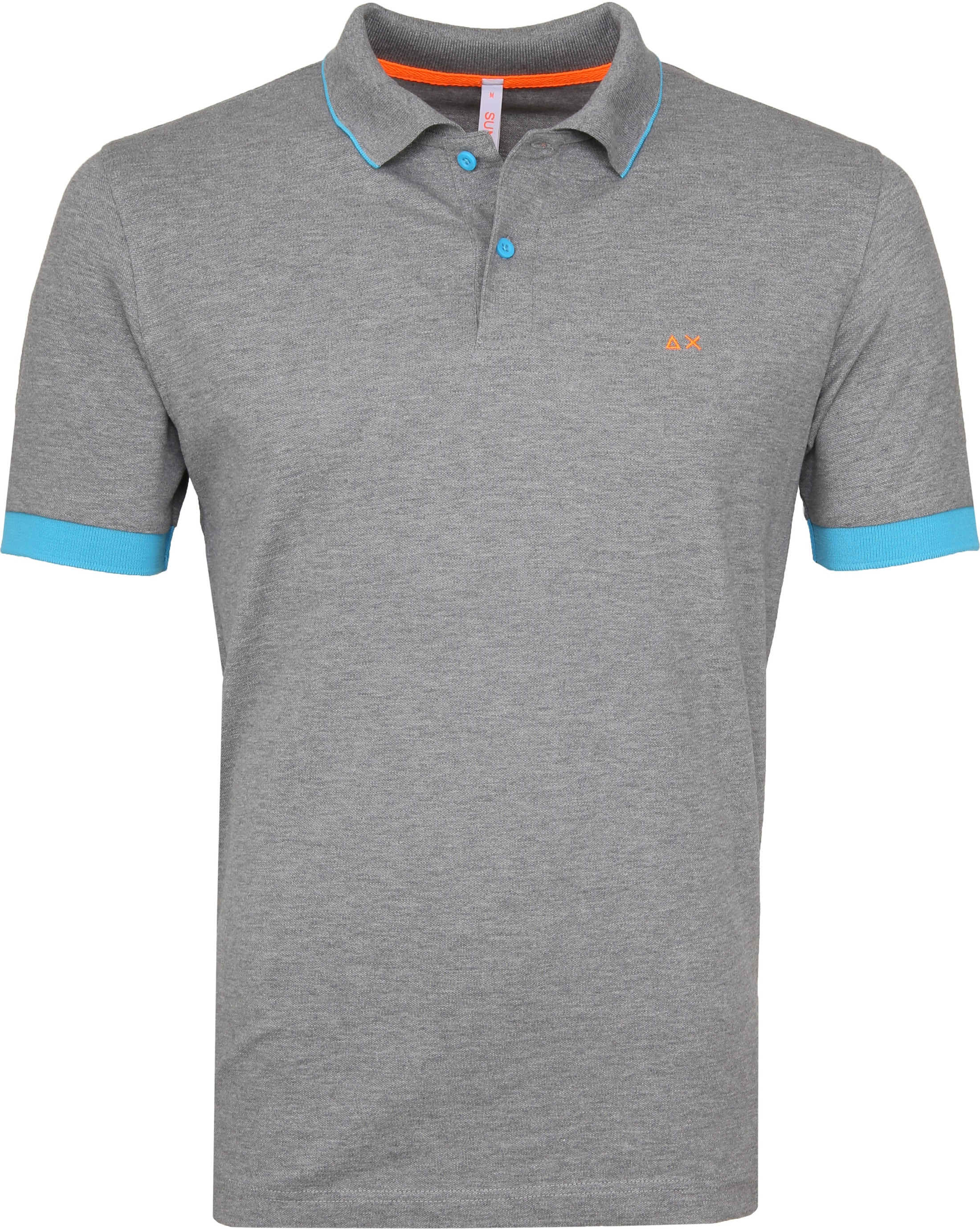 Sun68 Poloshirt Small Stripes Fluo Grey foto 0