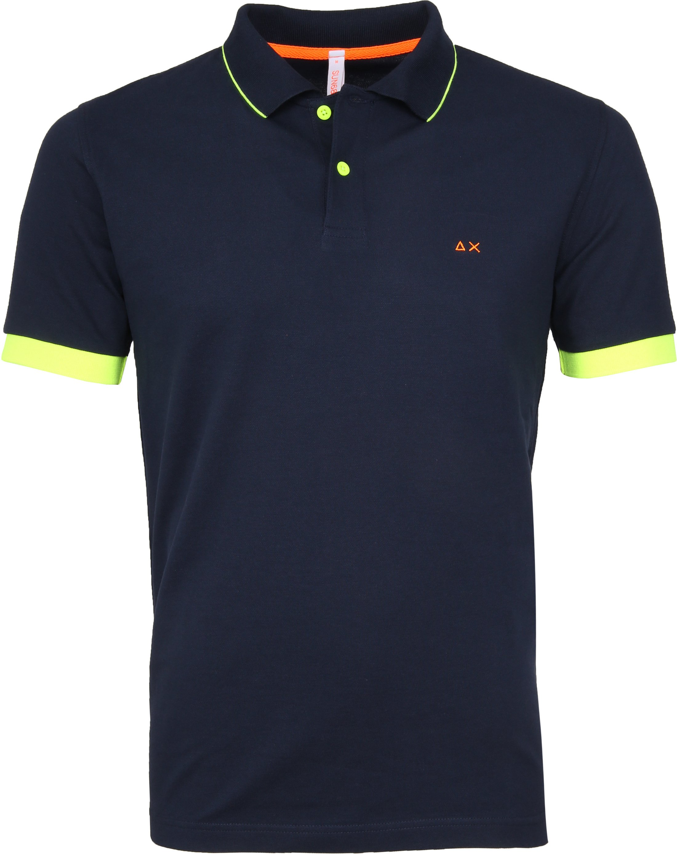 Sun68 Poloshirt Small Stripes Fluo Navy foto 0