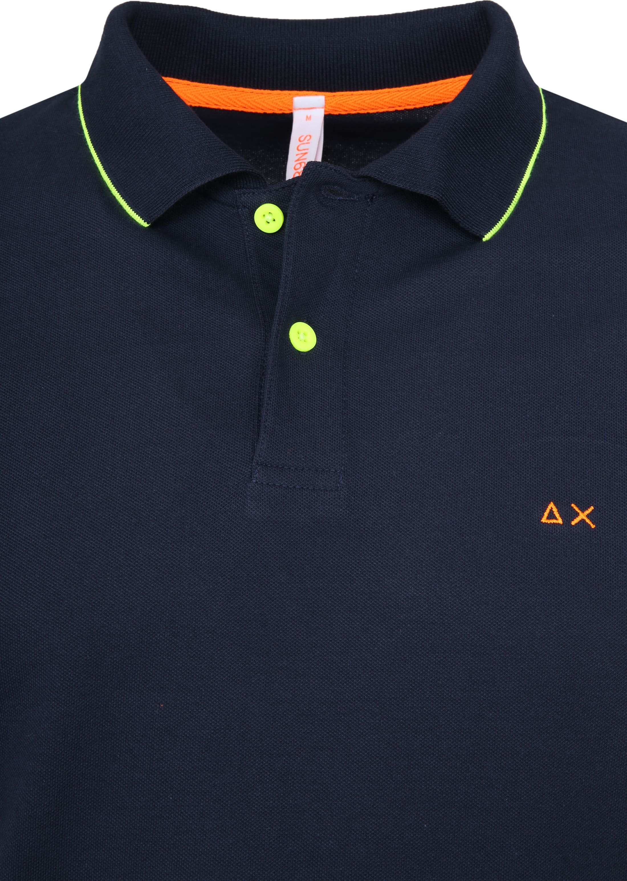 Sun68 Poloshirt Small Stripes Fluo Navy foto 1