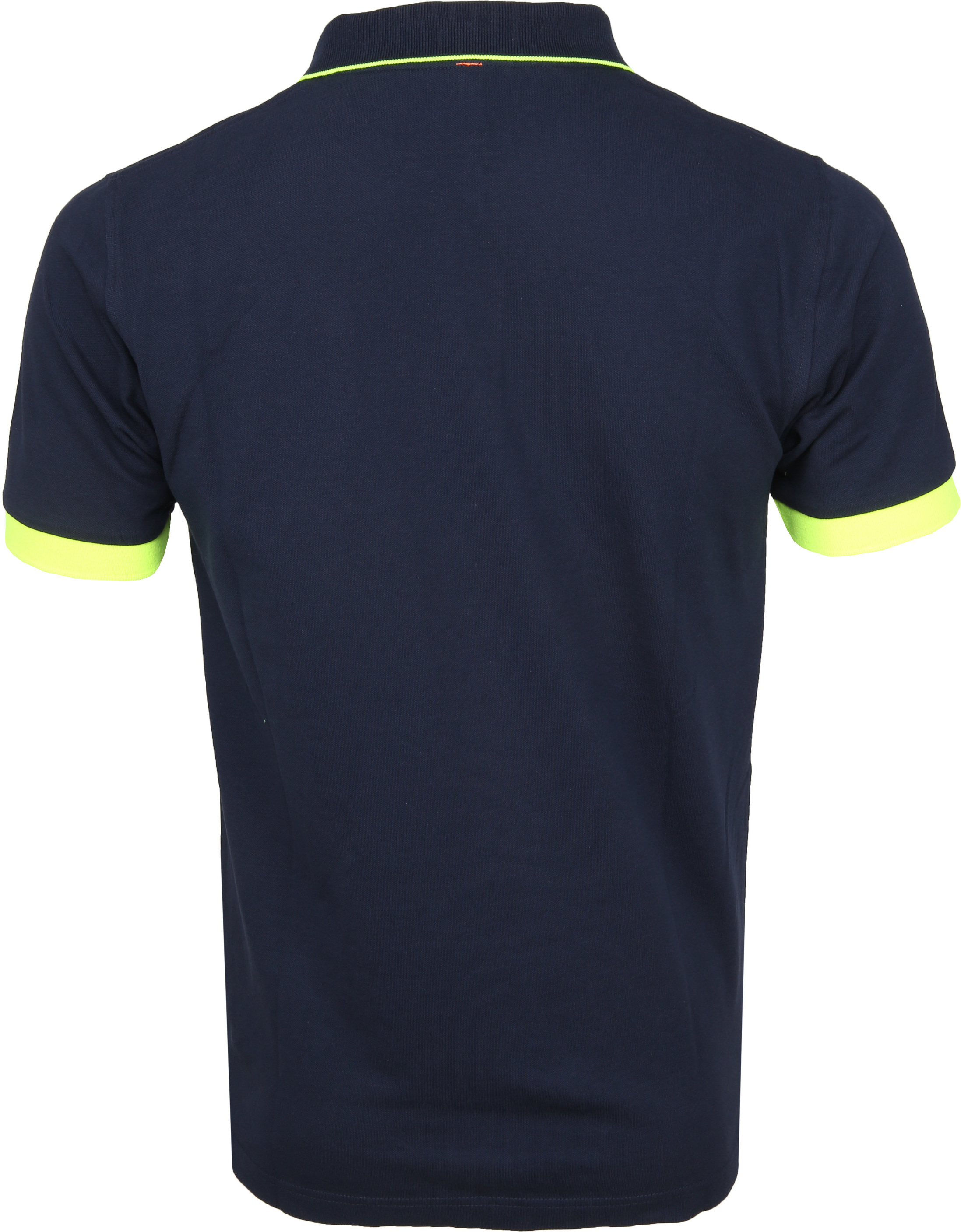 Sun68 Poloshirt Small Stripes Fluo Navy foto 2