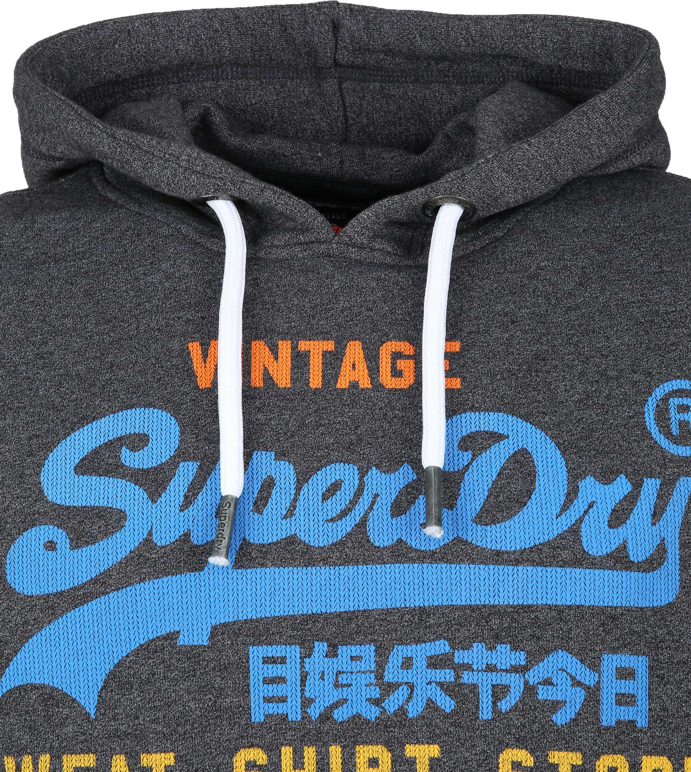 Superdry Authentic Hoodie Dark Grey foto 1