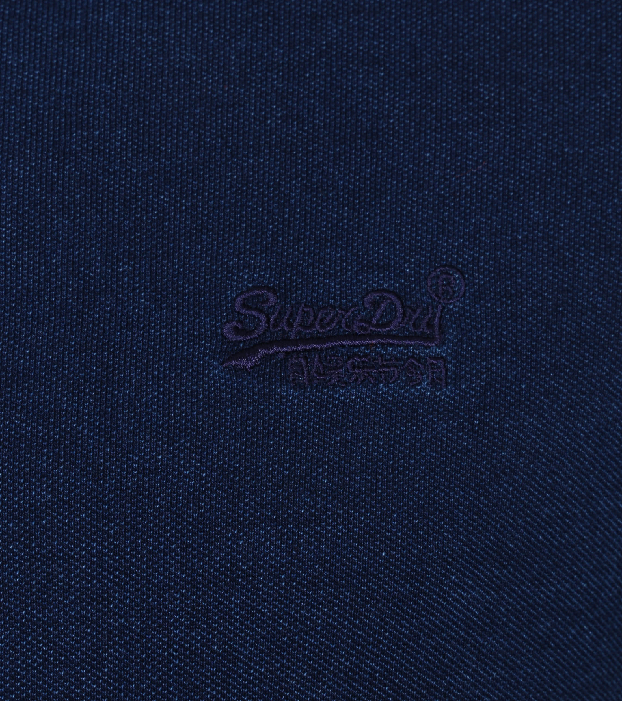 Superdry Classic Pique Polo Indigo Blauw