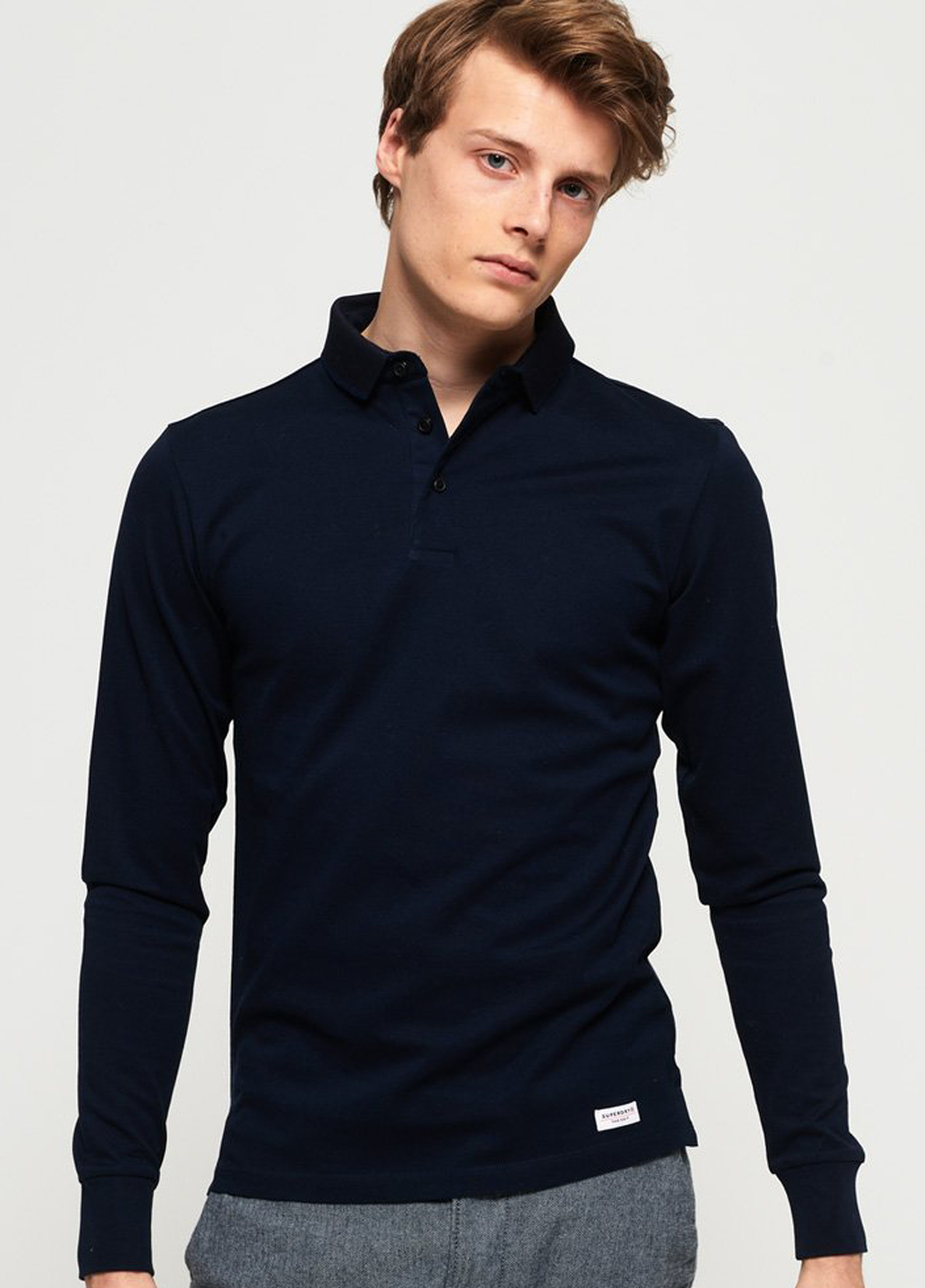 Superdry Classic Polo LS Navy foto 5