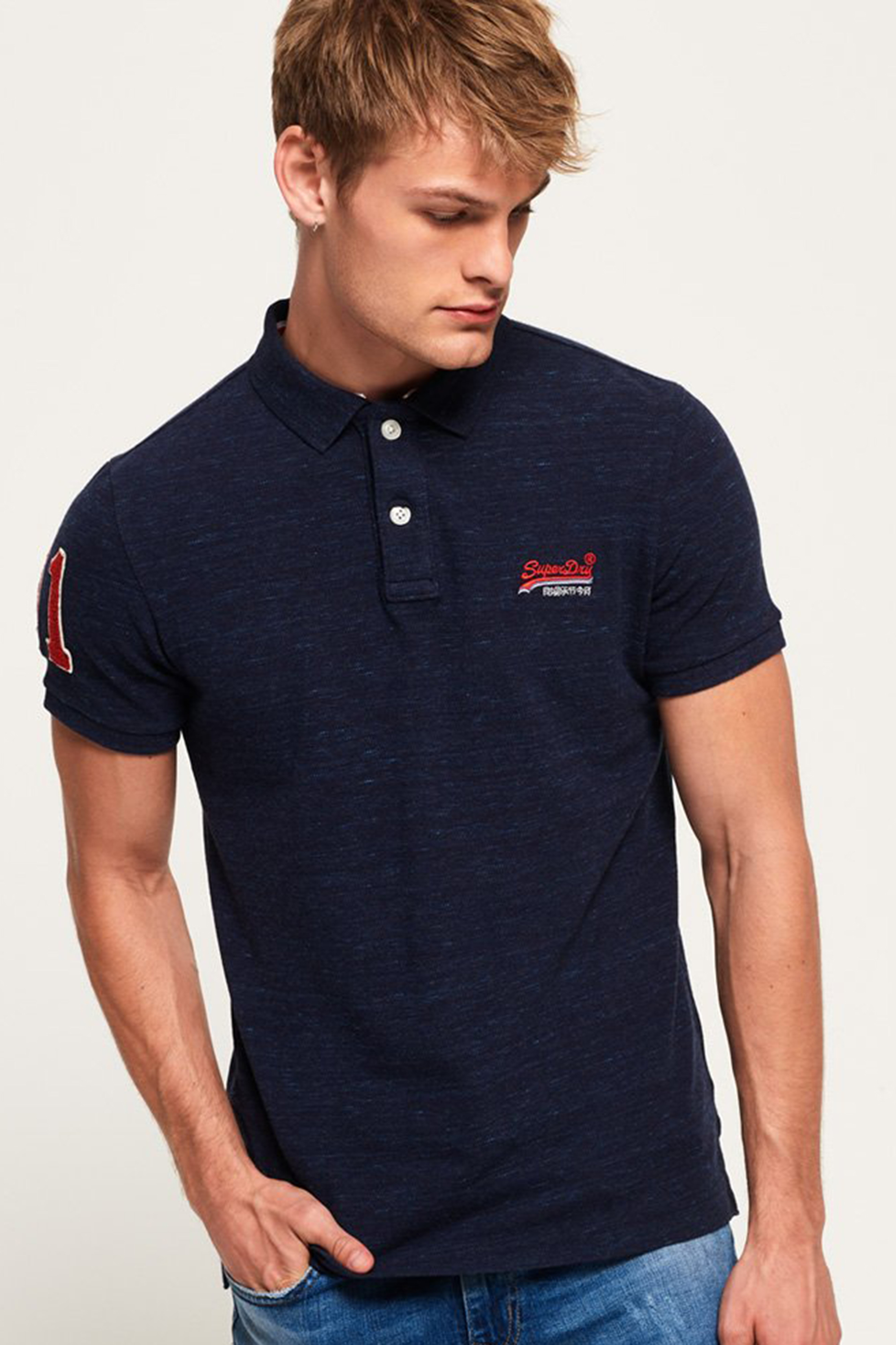 Superdry Classic Polo Navy foto 5