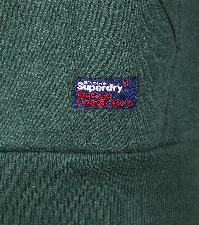 Superdry Embossed Hoodie Donkergroen foto 3