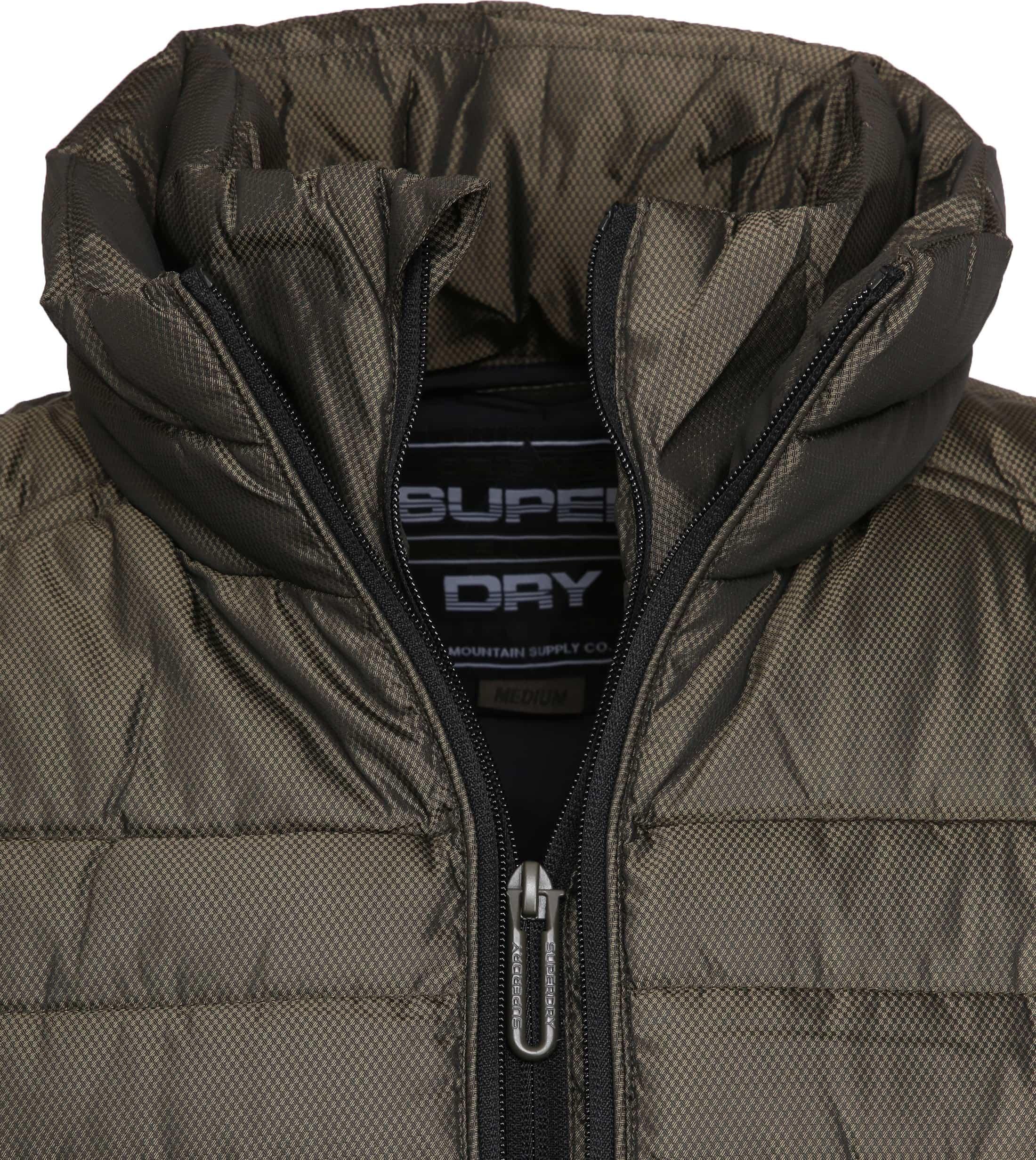 Superdry Fuji Double Zip Jack Donkergroen foto 1